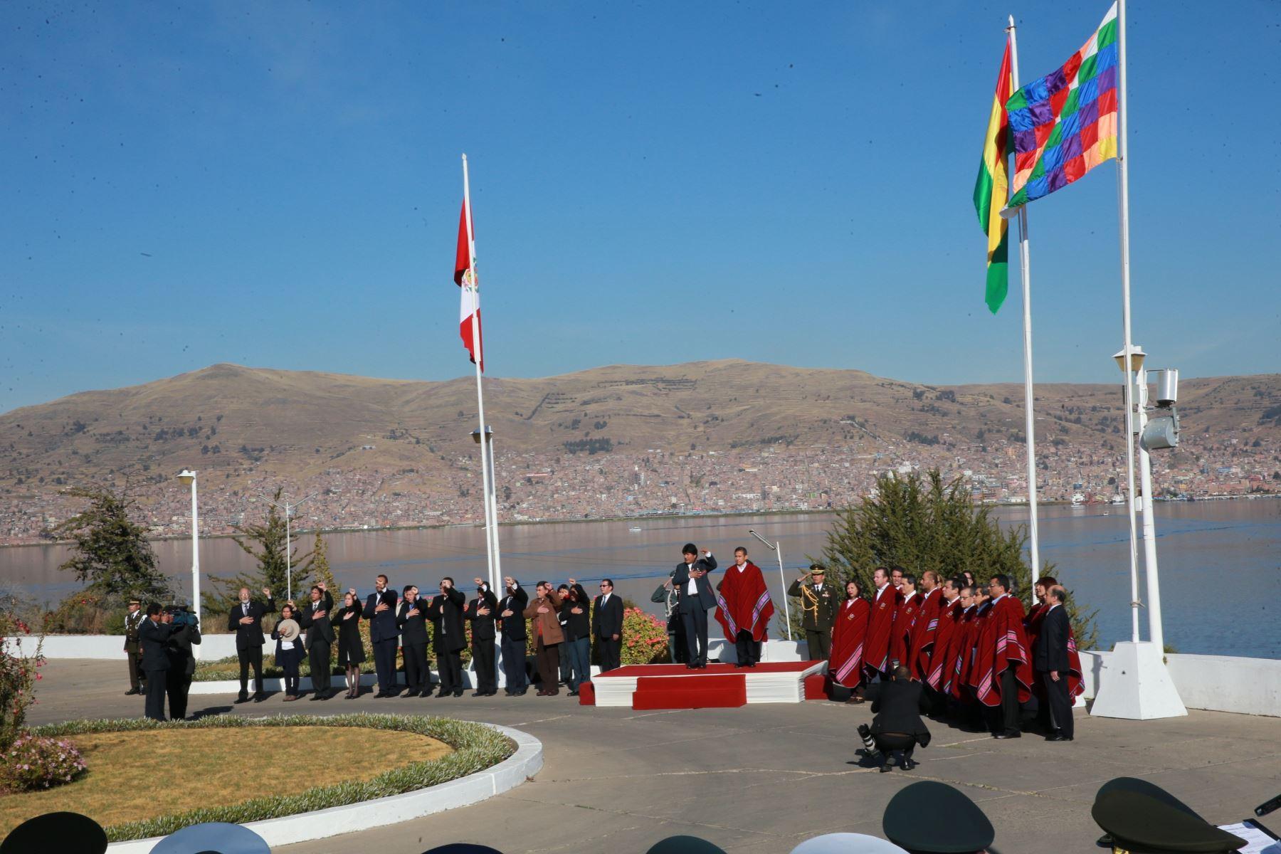 Primera reunión del gabinete binacional Perú-Bolivia.