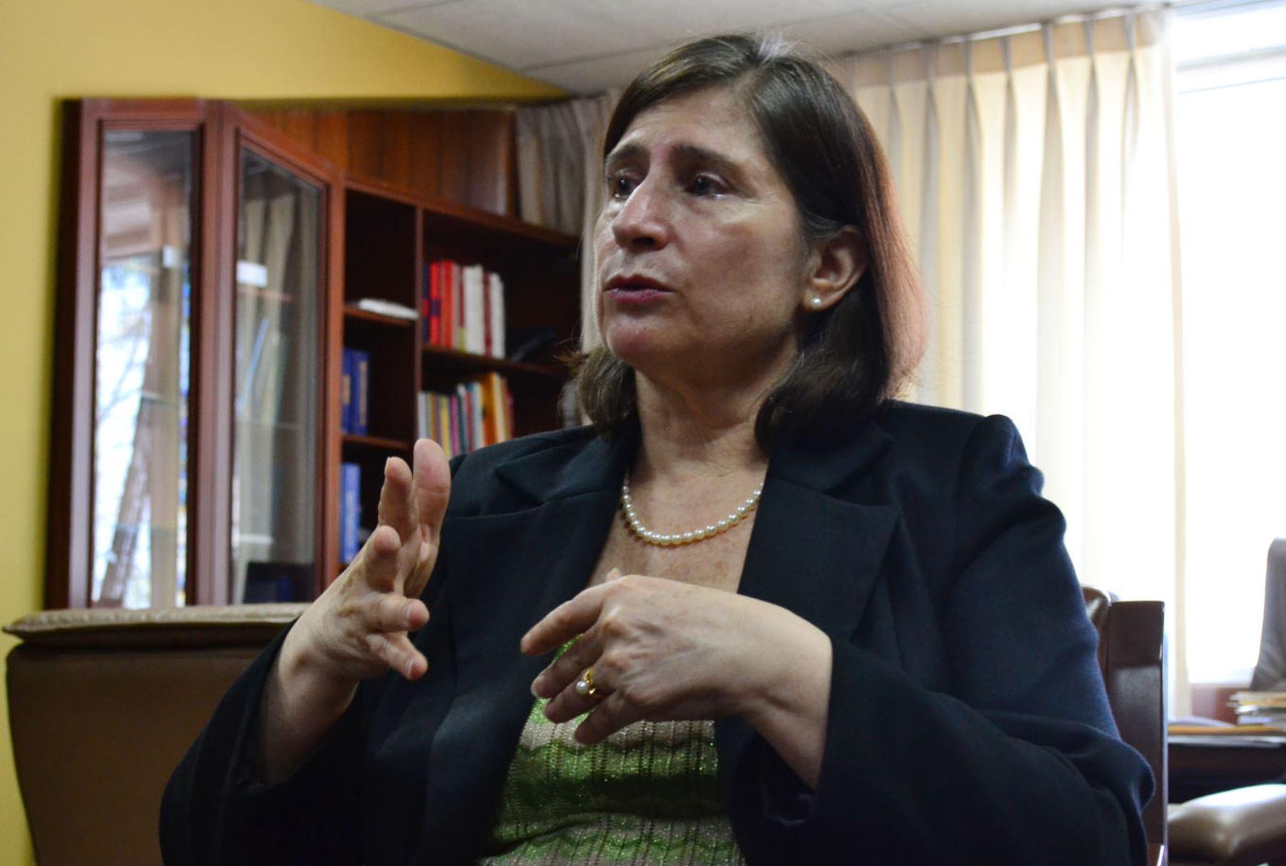 Lorena Masías Quiroga, Superintendente de la Superintendencia Nacional de Educación Superior Universitaria. ANDINA