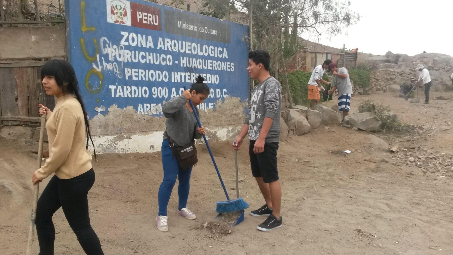 Vecinos y autoridades cuidan patrimonio arqueológico de Puruchuco. Foto: Andina/Difusión