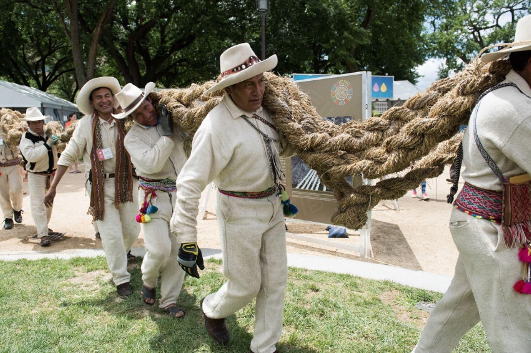 Ingeniería y tradición andina en el Smithsonian Folklife Festival. Foto: Difusión