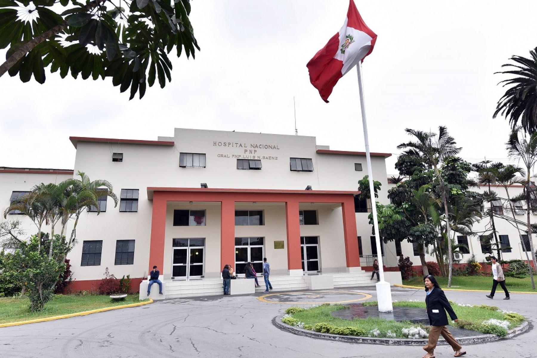 """Hospital de la Policía Nacional del Perú """"Luis N. Sáenz""""."""