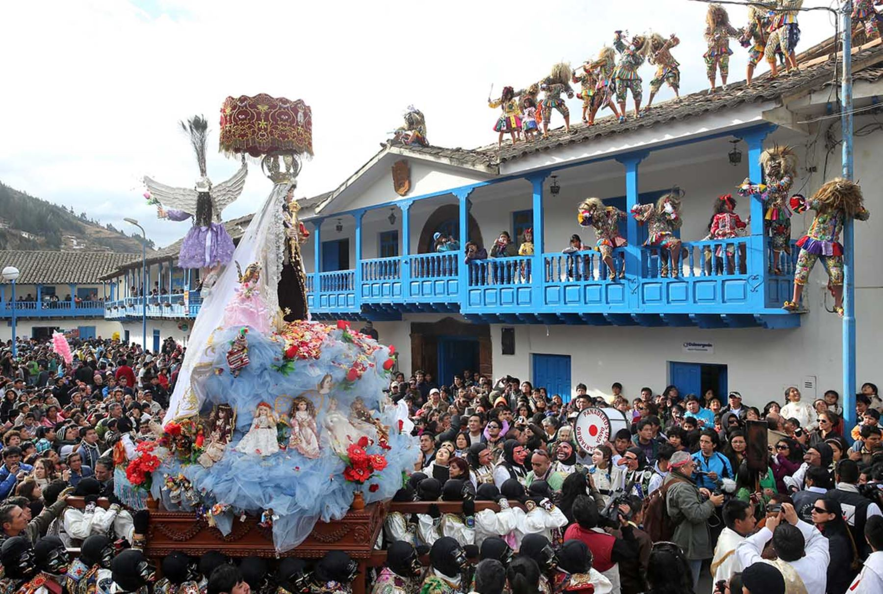 Estas son las danzas que se bailan en fiesta de Virgen del Carmen de Paucartambo, en Cusco. ANDINA/Carlos Lezama
