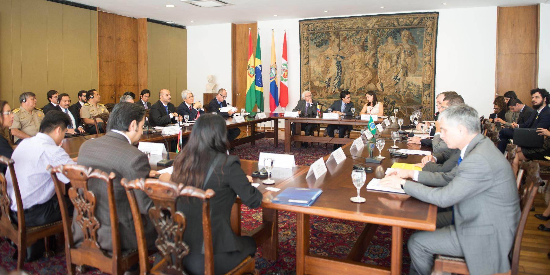 Ministros del Interior del Perú, Brasil, Bolivia y Ecuador se reunen en Brasilia para promover una migración segura en Sudamérica. ANDINA/Difusión