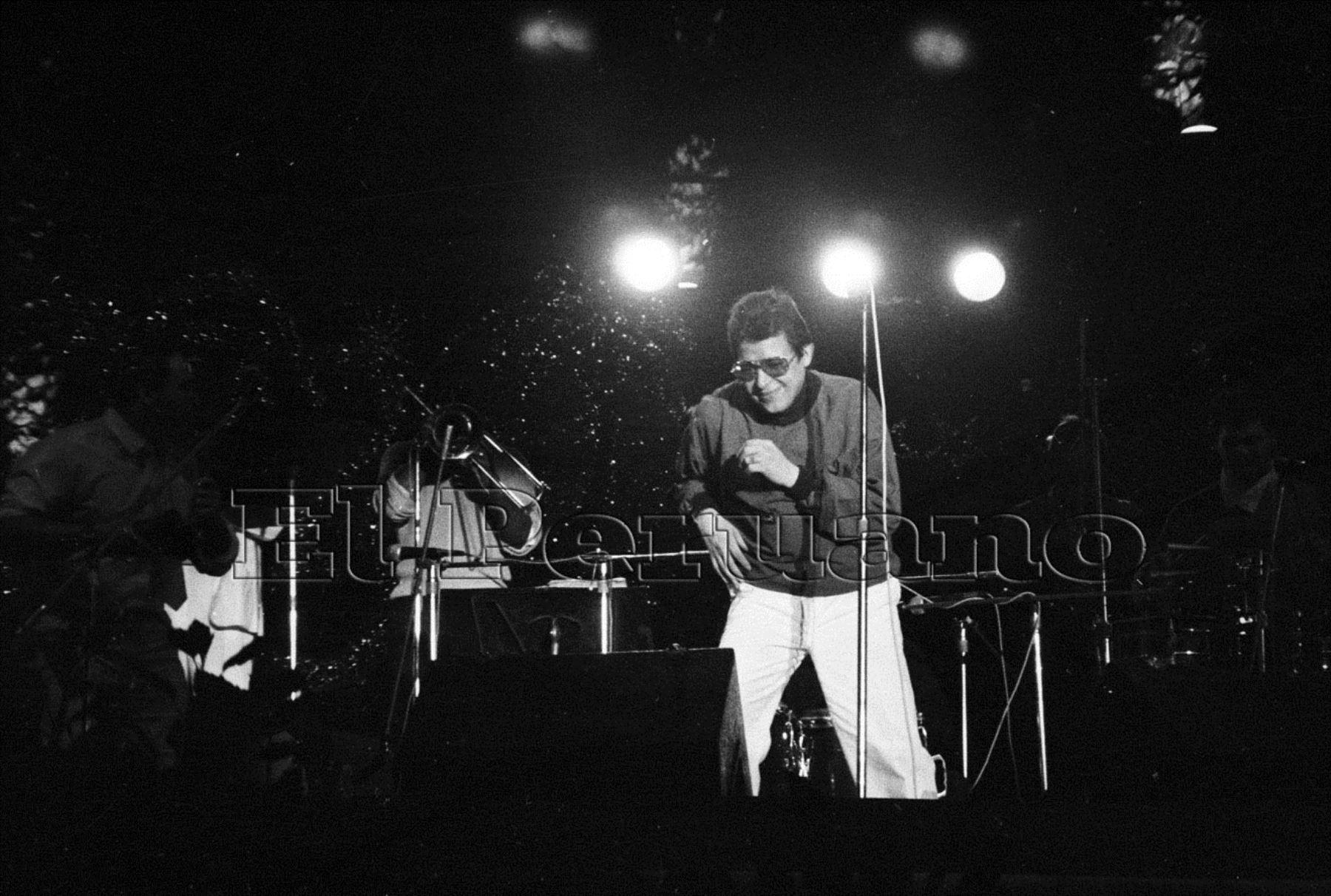 Héctor Lavoe se presenta en Feria del Hogar en 1986. Foto: Archivo Histórico El Peruano
