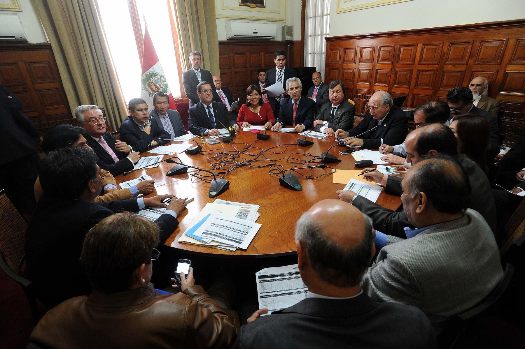 Junta de Portavoces del Congreso periodo 2015-2016.