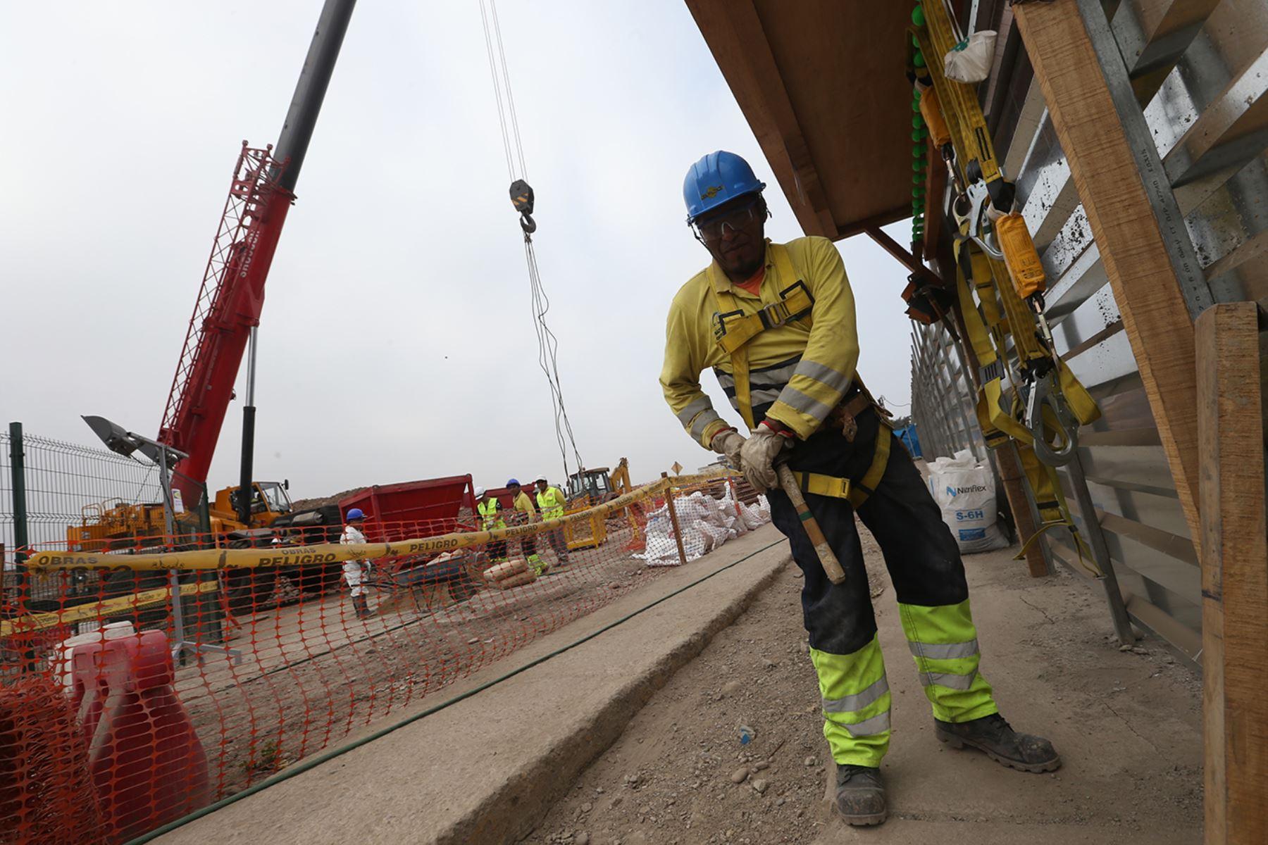 Avanza construcción de Línea 2 del Metro de Lima, Foto: ANDINA/Juan Carlos Guzmán