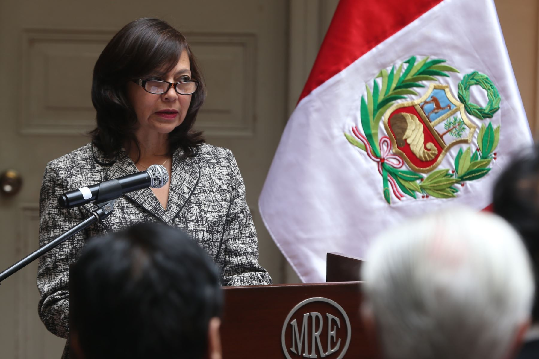 LIMA,PERÚ-AGOSTO 10. La Canciller Ana María Sánchez preside el 48° Aniversario del Día de Asean. Foto: ANDINA/Oscar Farje Gomero.