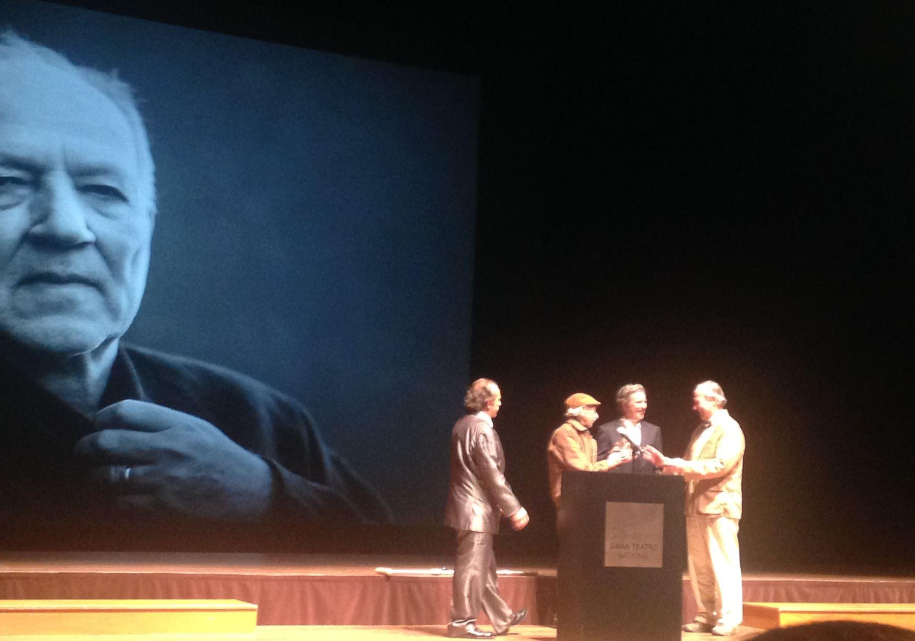 Werner Herzog recibe homenaje en el Festival de Cine de Lima.