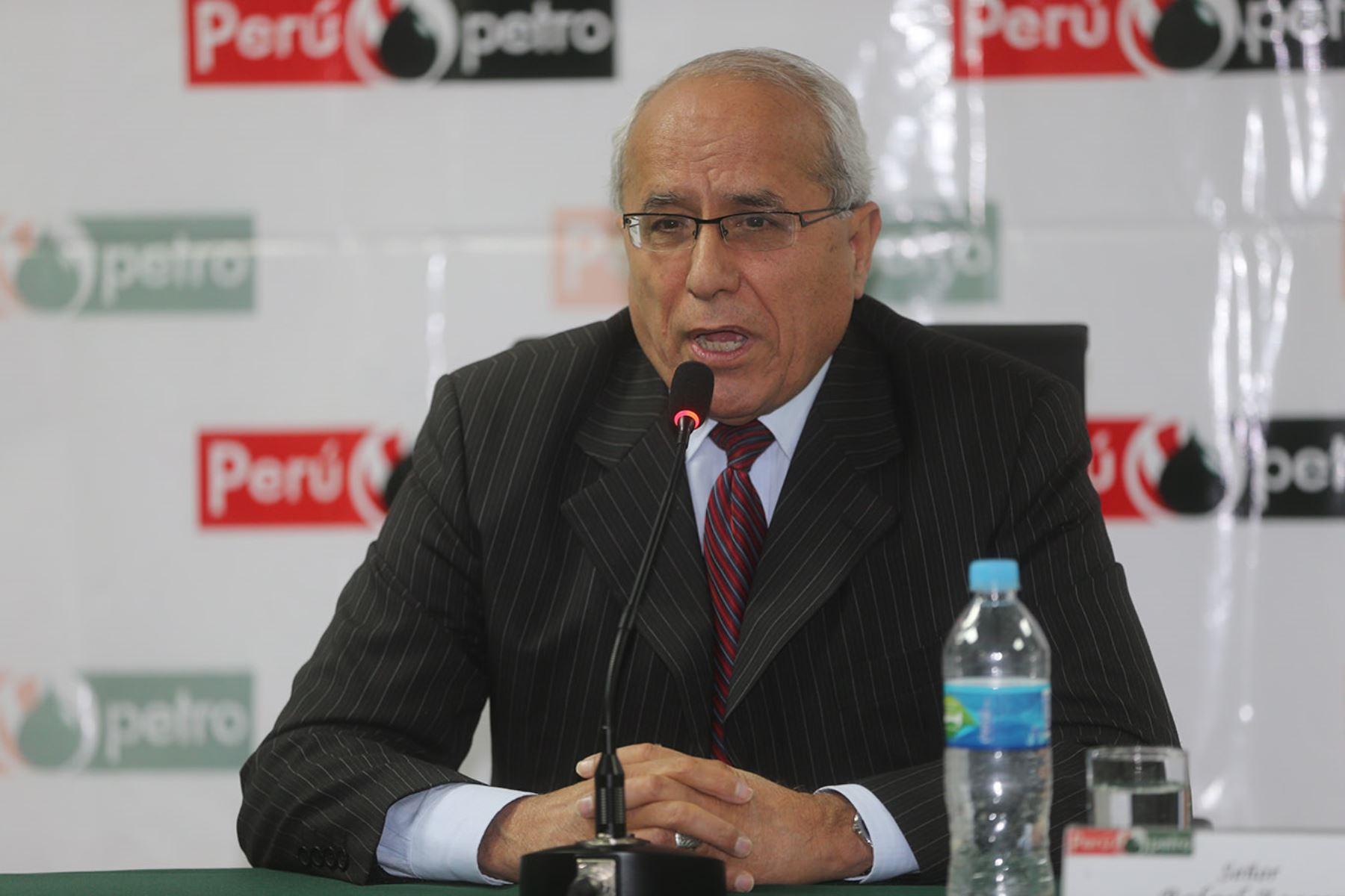 LIMA, PERÚ - AGOSTO 21. Conferencia de prensa del presidente de directorio de Perúpetro, Rafael Zoeger.Foto: ANDINA/Juan Carlos Guzmán Negrini.
