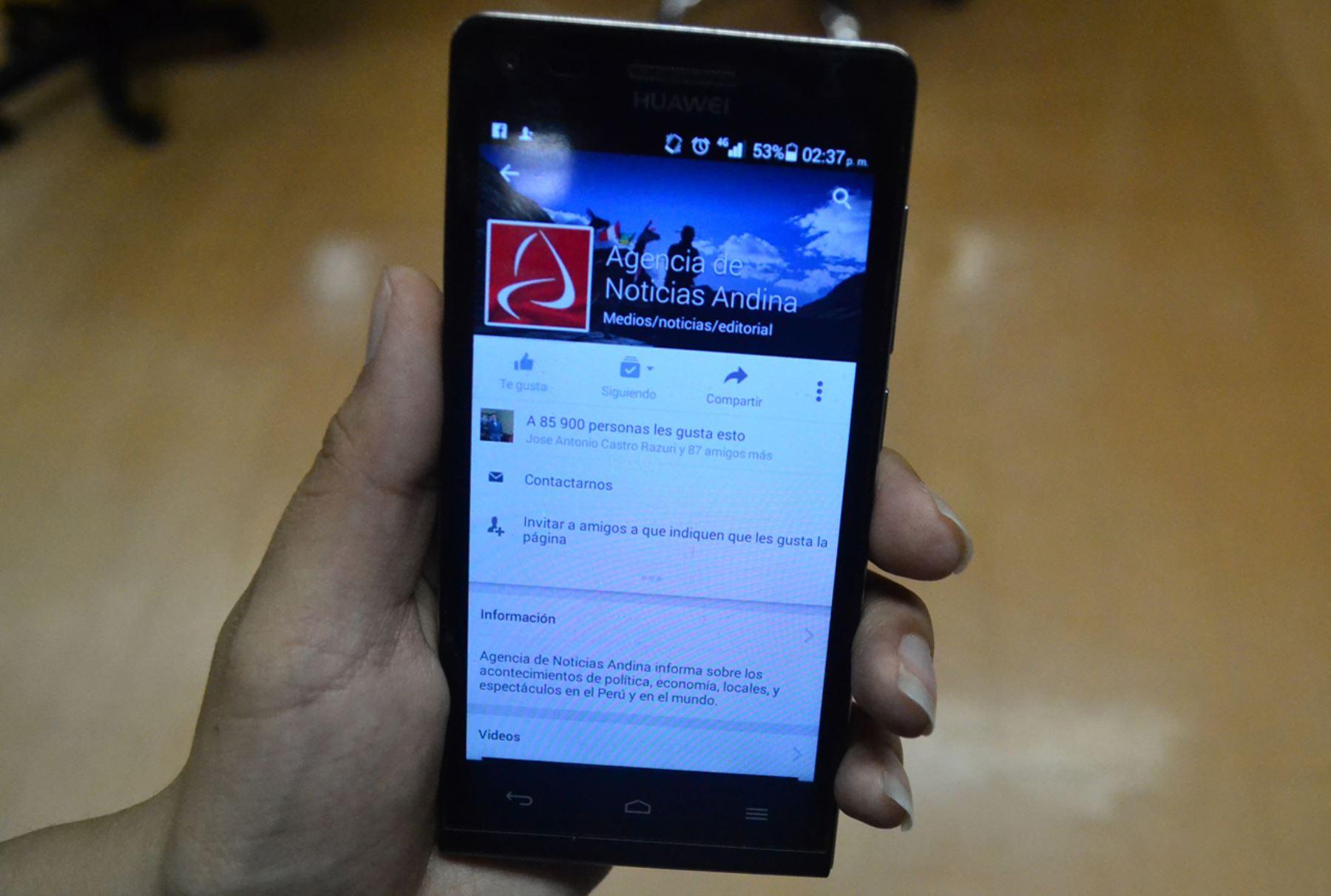 Redes sociales. Foto: ANDINA