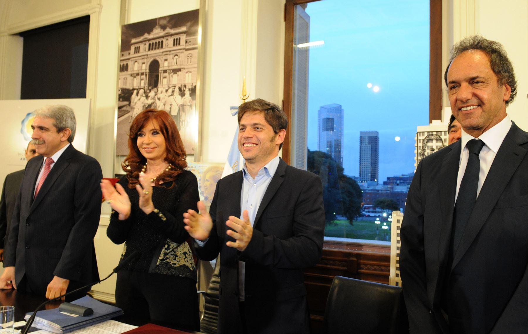 La presidenta argentina Cristina Kirchner inaugura la ampliación del Museo Nacional de Bellas Artes ubicado en el barrio de Recoleta de Buenos Aires. Difusión