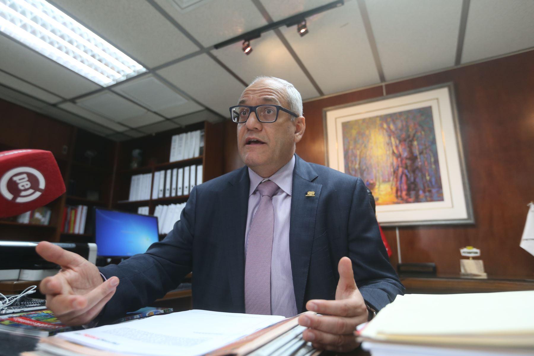 Presidente de Directorio de Petroperú Germán Velásquez Salazar. ANDINA/Vidal Tarqui