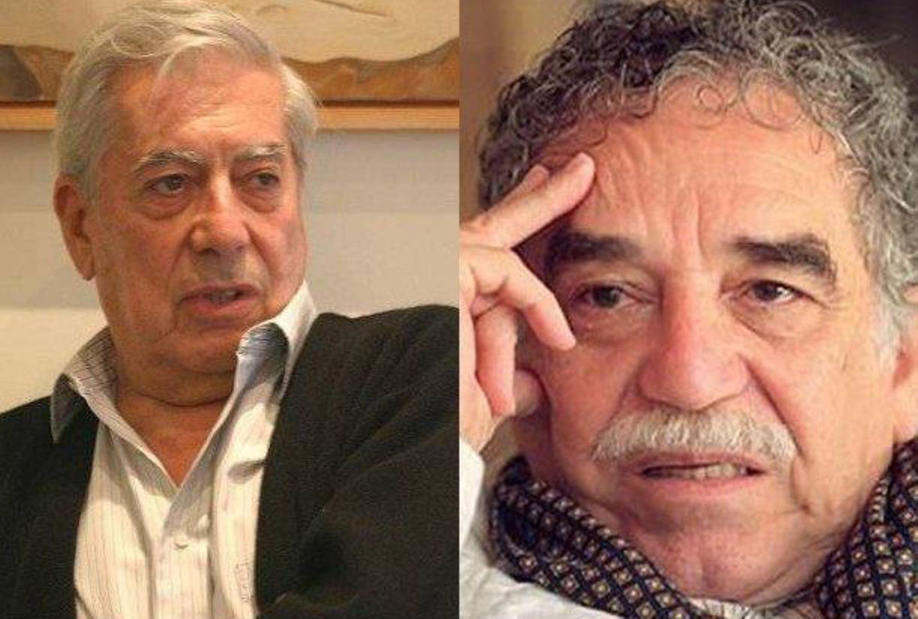 Los escritores Mario Vargas llosa y Gabriel García Márquez. Foto: ANDINA/letrasuelta.blogspot.com / Web