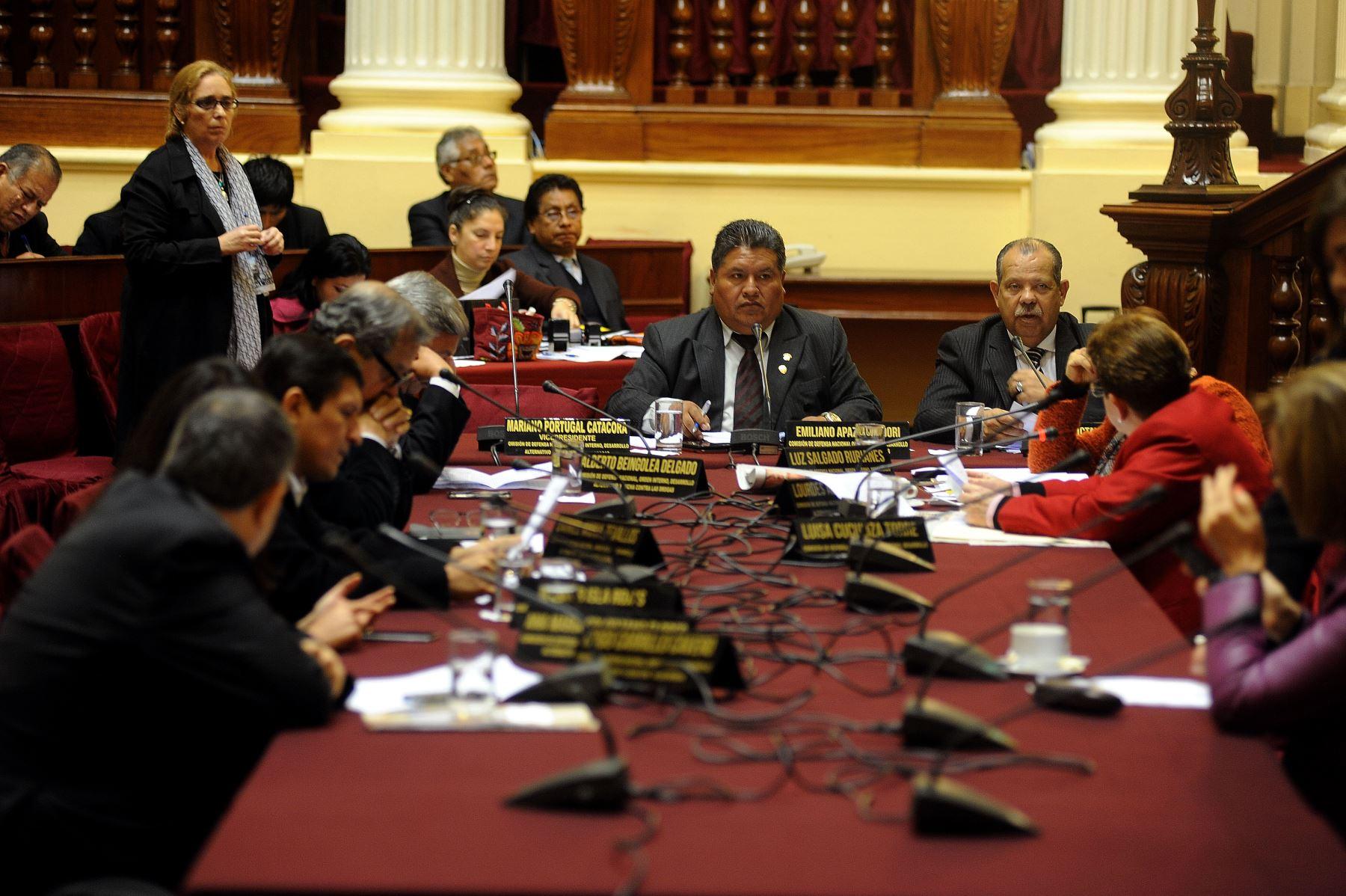 Comisión de Defensa del Congreso.