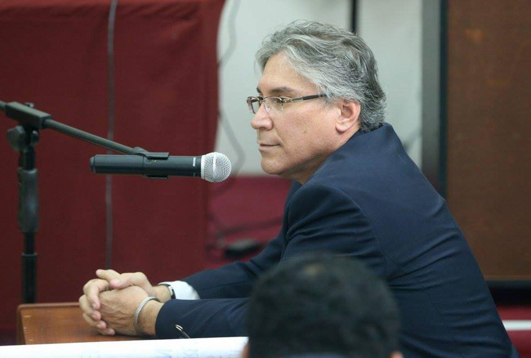 El exministro de Justicia, Aurelio Pastor declara ante juzgado por el caso narcoindultos. ANDINA/Oscar Farje