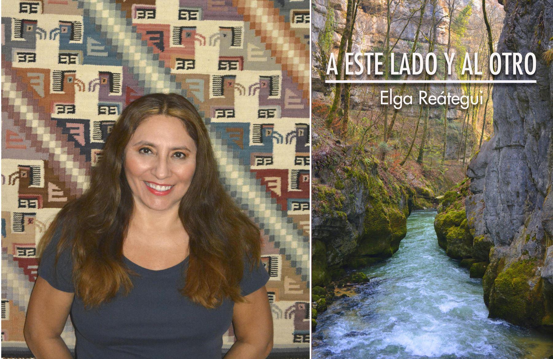 Autora Elga Reátegui y su última novela.