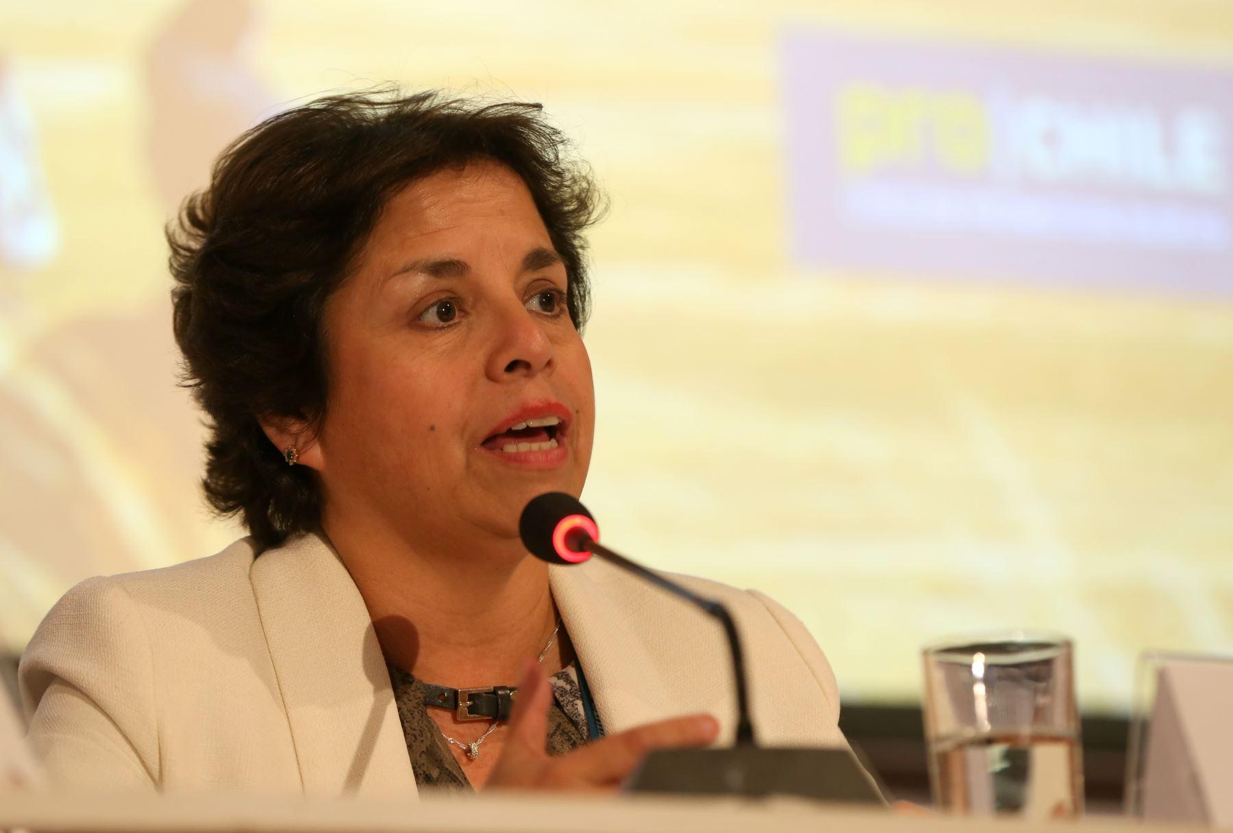 Ministra de minería de Chile, Aurora Williams. ANDINA/Oscar Farje
