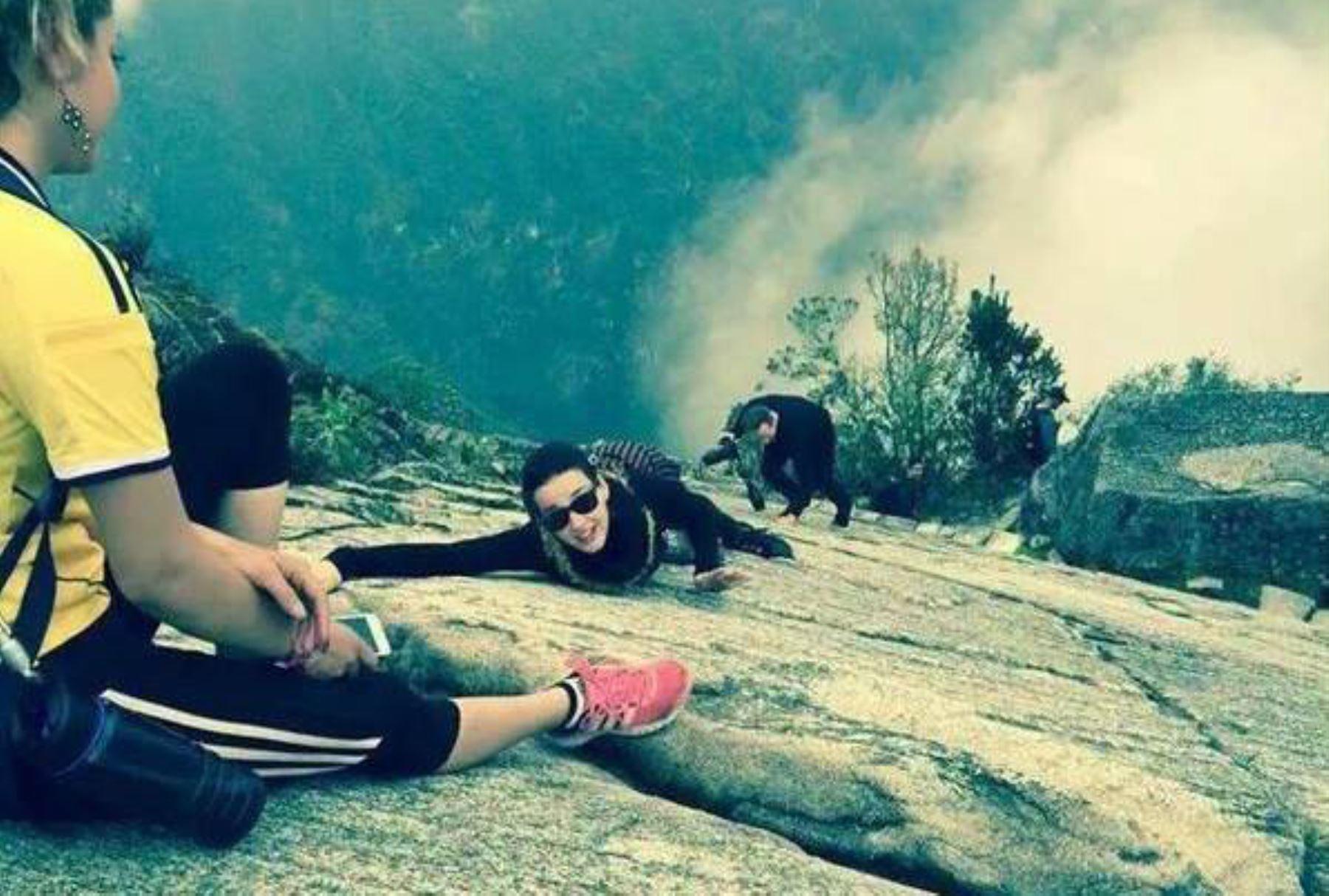 No pudo resistirse a conocer la nueva maravilla del mundo, Machu Picchu.