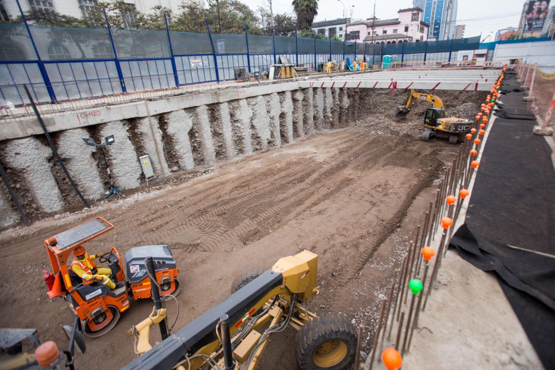 Obras de construcción de túnel para by pass en Av .28 de Julio. Foto: Andina/Difusión