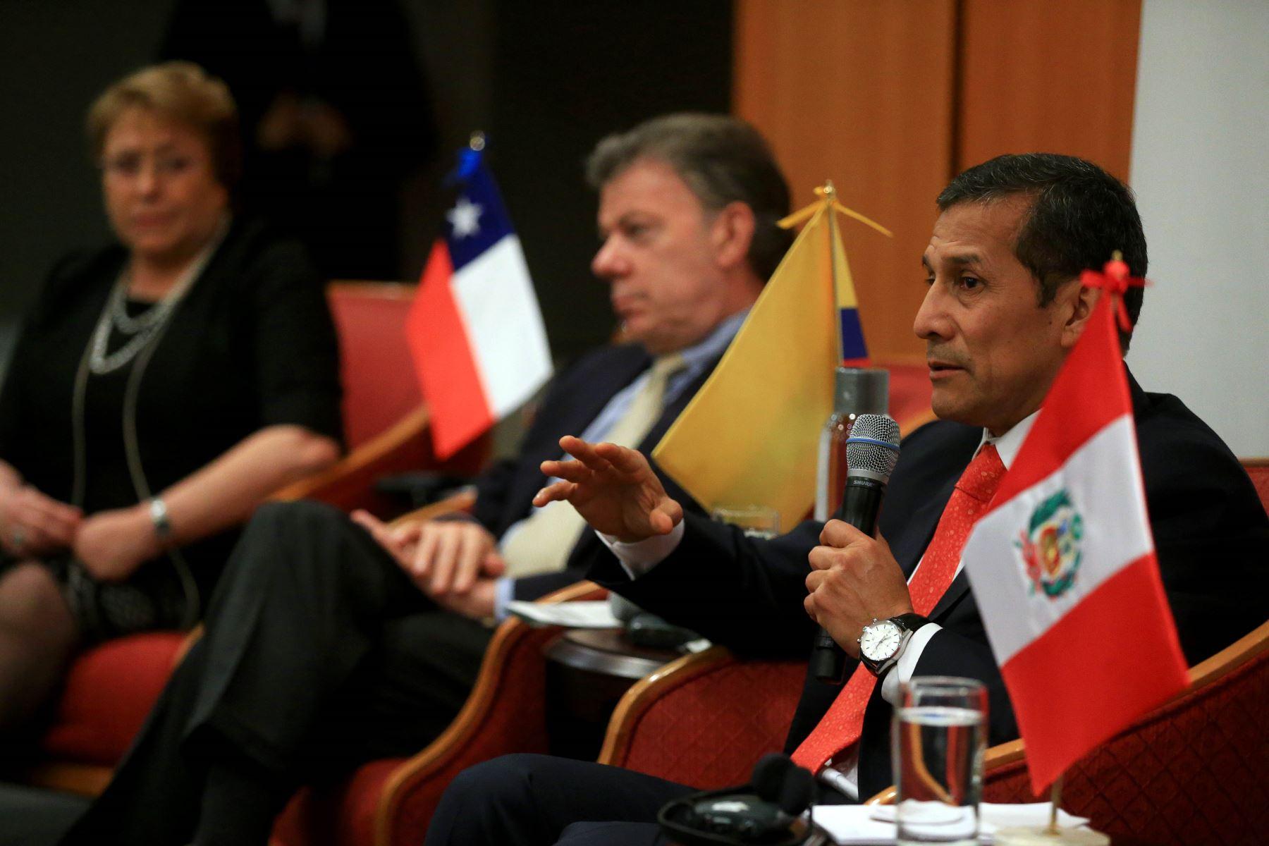 Jefe del Estado, Ollanta Humala, en la reunión de la Alianza del Pacífico en Nueva York.