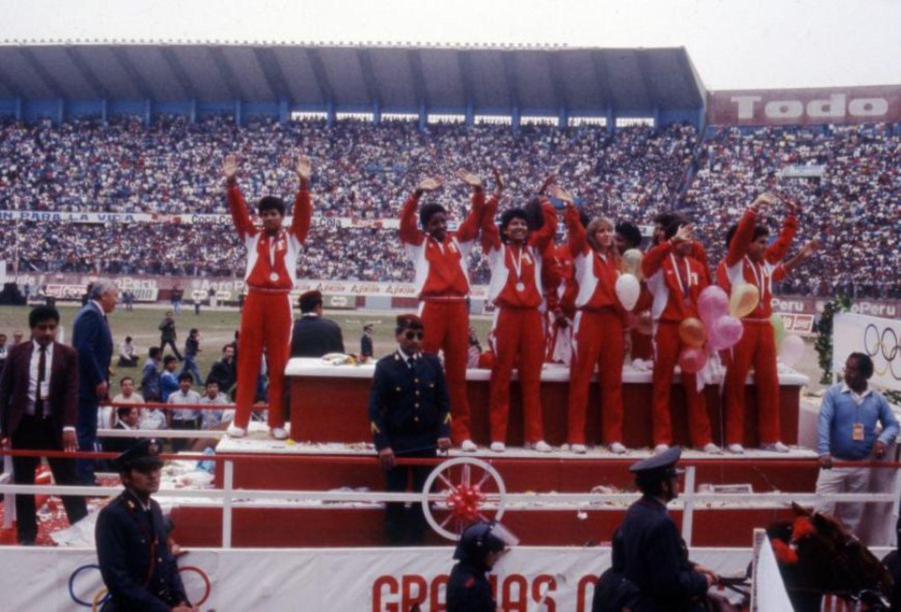 El equipo peruano consiguió la medalla de plata en las Olimpiadas de Seúl 1988.