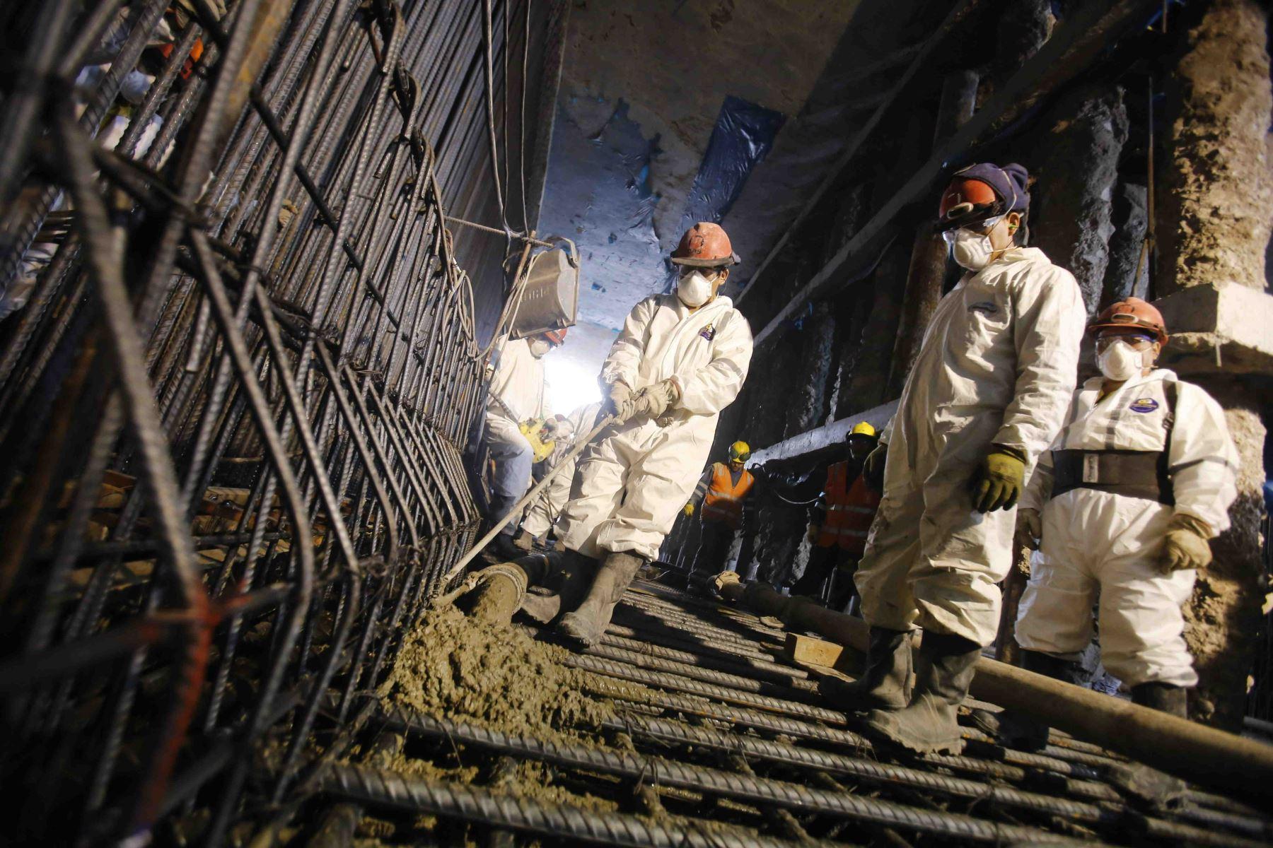 Inician construcción de piso de túnel debajo del río Rímac a la altura del Puente Trujillo. Foto: Andina/Difusión