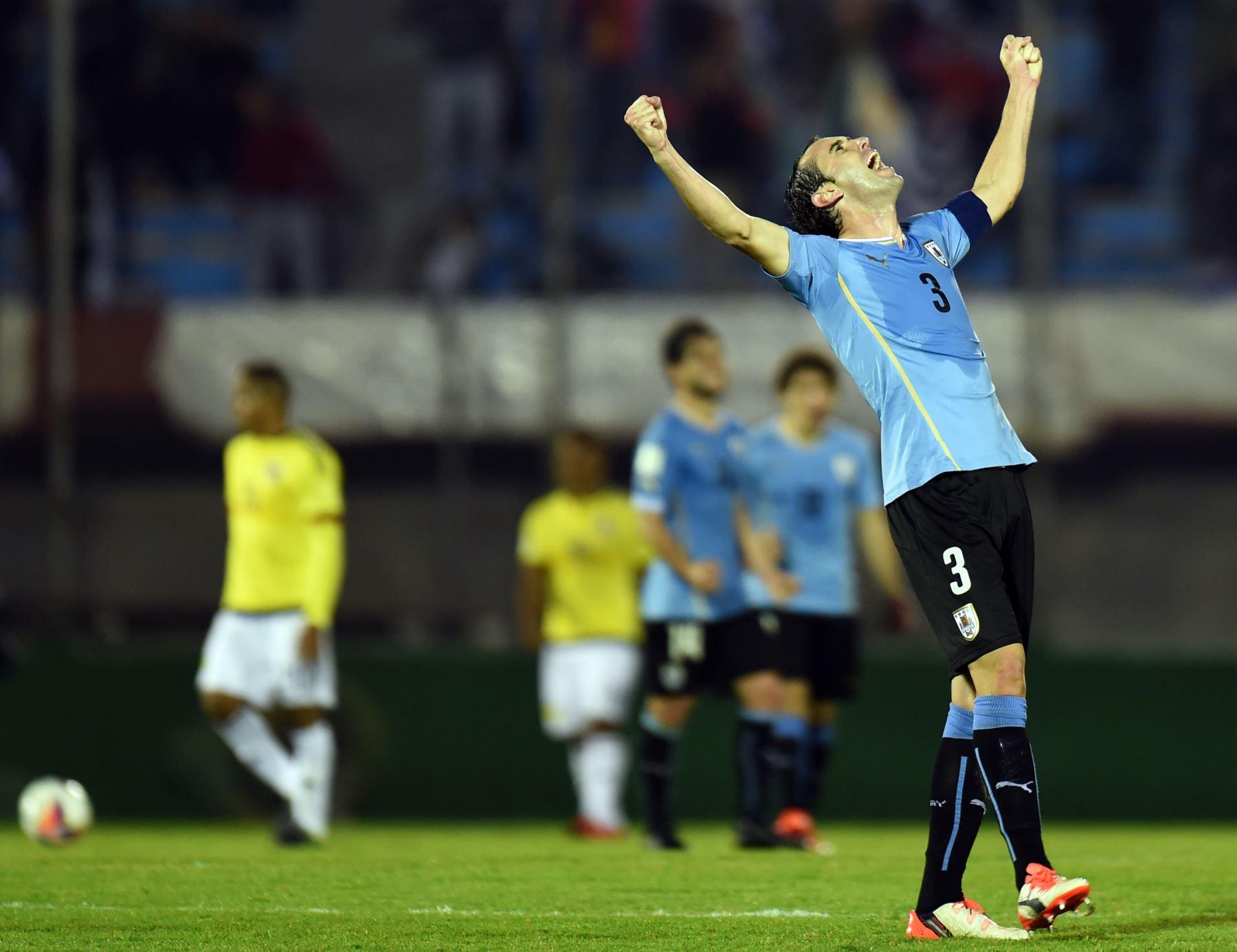 Diego Godín fue el baluarte de los uruguayos