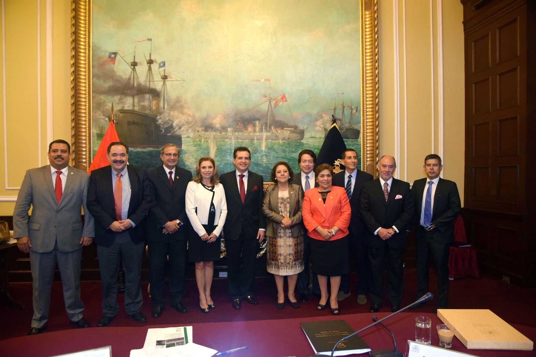 Parlamentarios de la Alianza del Pacífico se reunieron en Lima