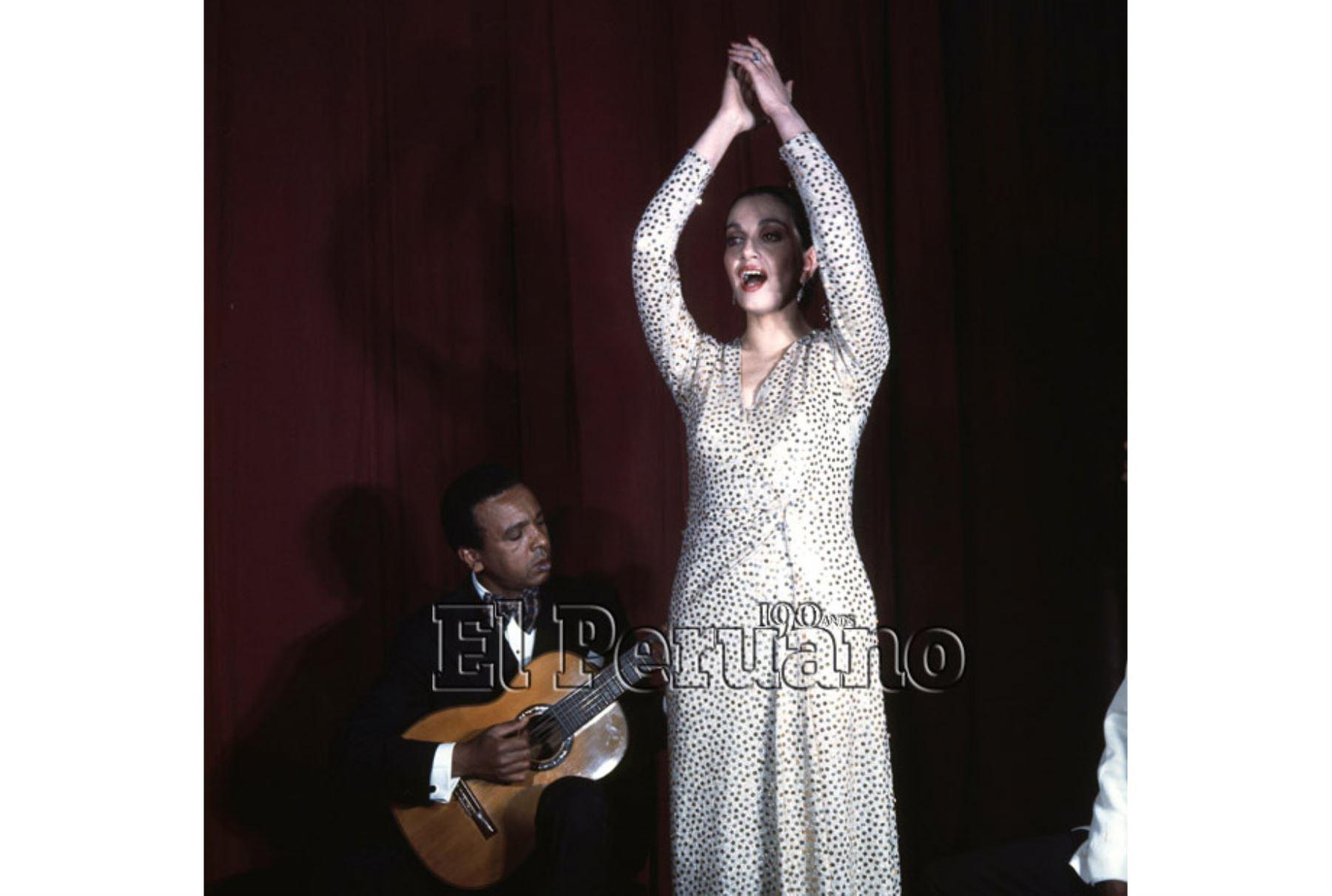 Lima - 13 junio 1976 / Alicia Maguiña y Carlos Hayre. Foto: Archivo Histórico El Peruano
