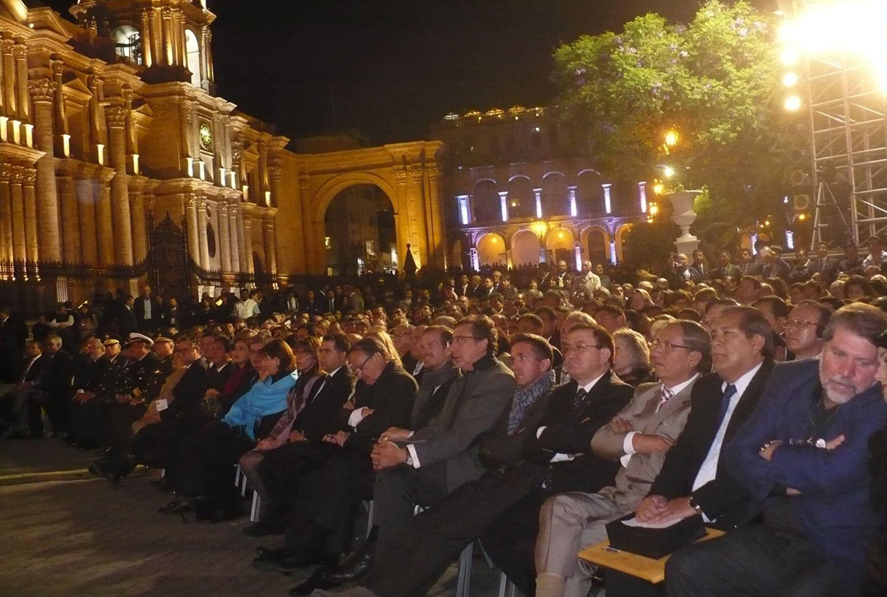 Inauguran Congreso de Ciudades Patrimonio en Arequipa.