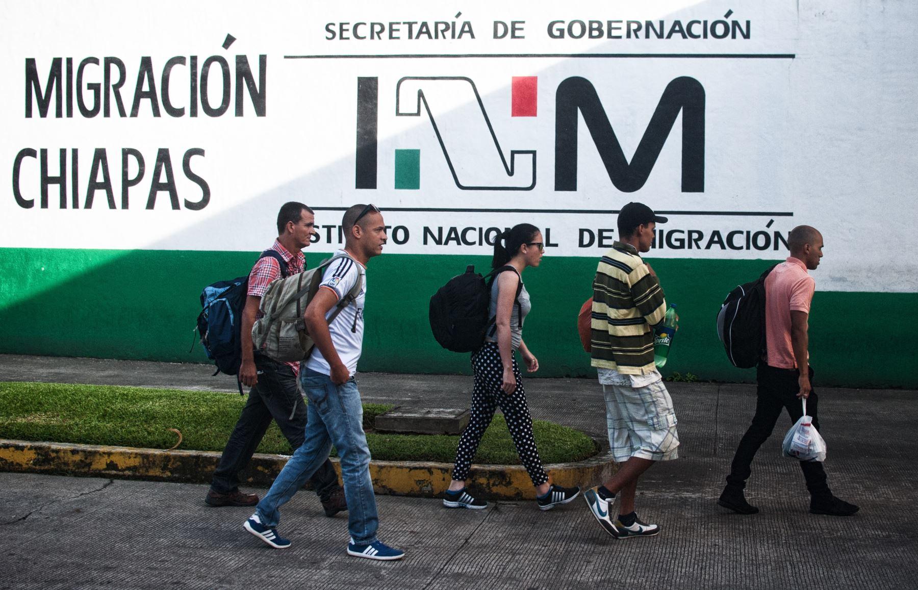 Unos 6,500 cubanos se han presentado ante la autoridad migratoria mexicana entre enero y septiembre, el triple que para todo el año pasado, según cifras del gobierno mexicano. Foto: AFP