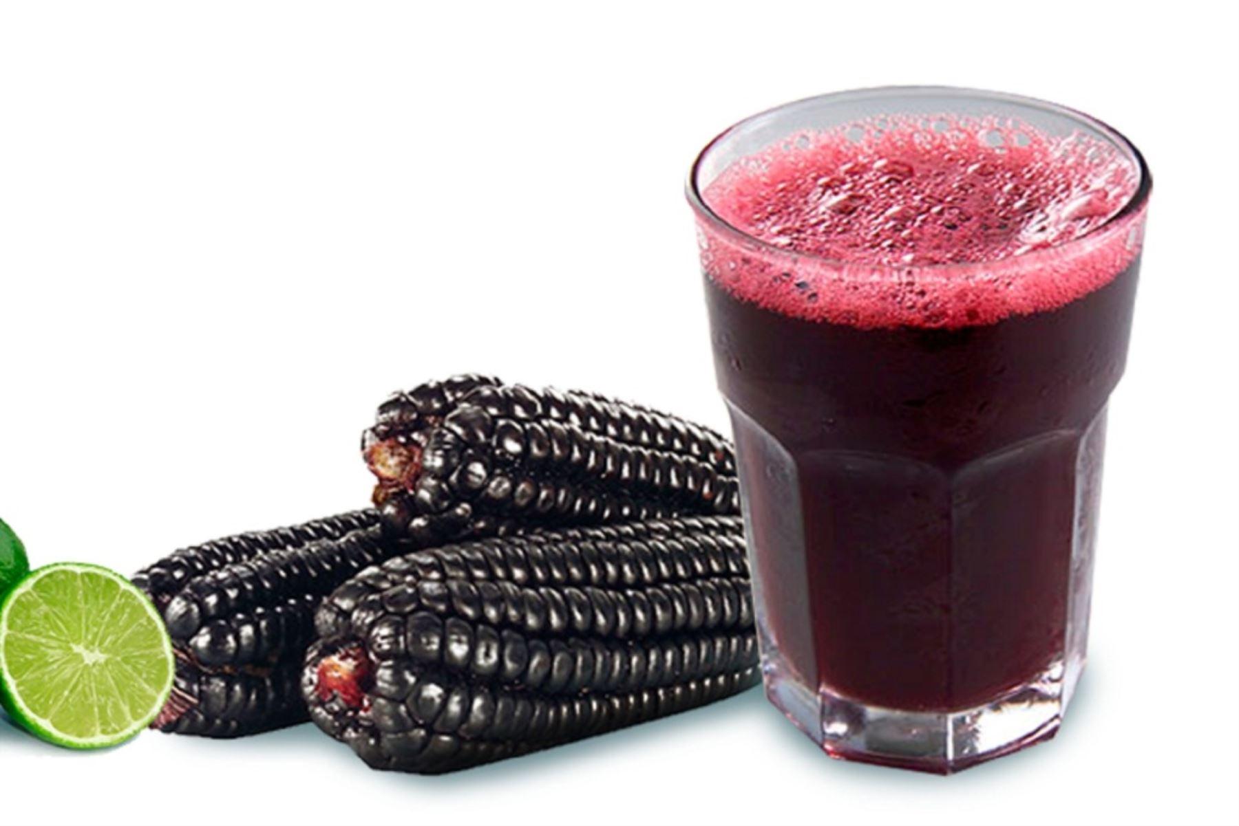 Maíz morado ayuda a prevenir cáncer de colon y enfermedades cardiovasculares. Foto: ANDINA/Difusión.