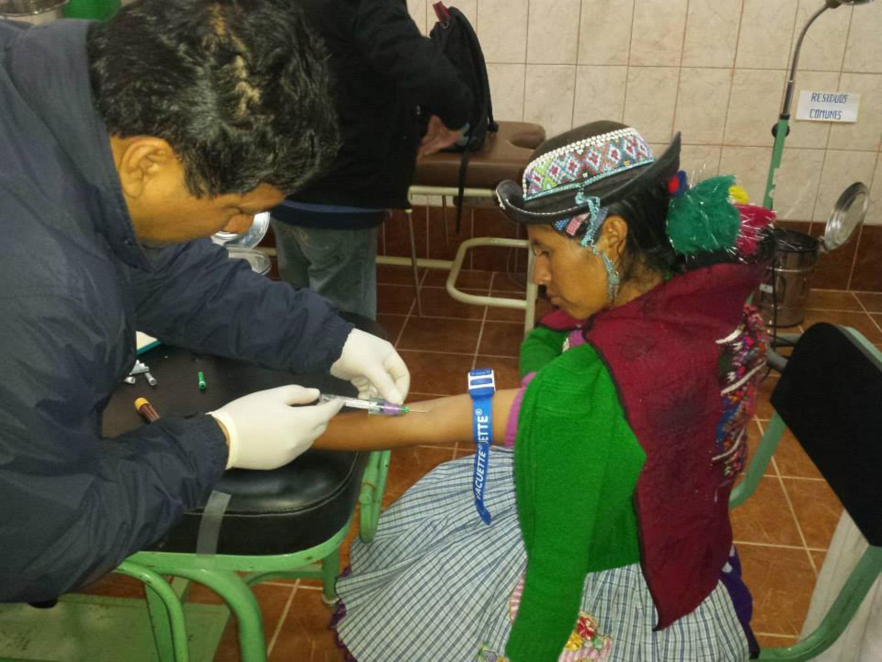 Mujer de Huancavelica participó en estudio del Instituto Nacional de Salud. Foto: Difusión