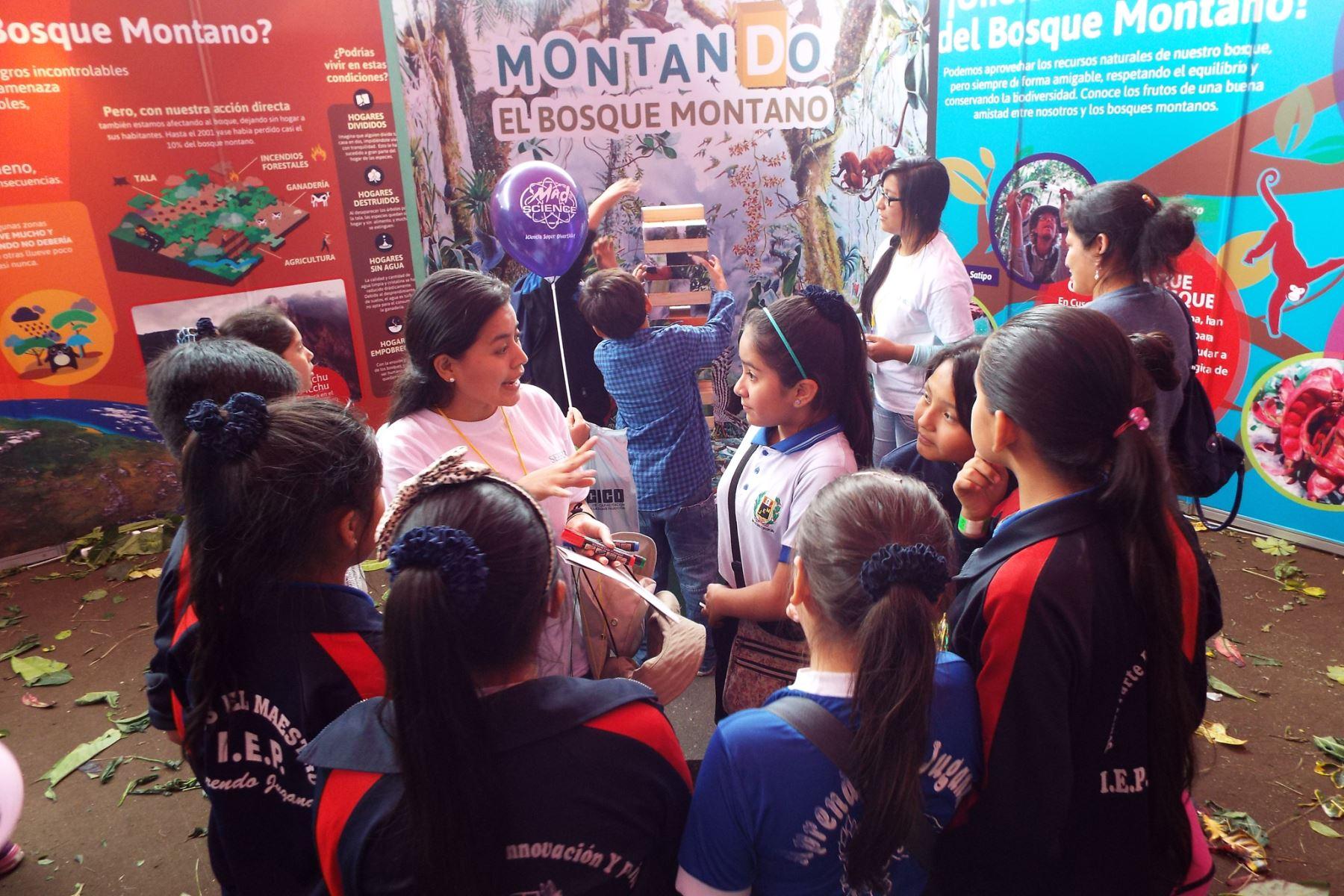 Estudiantes conocen más sobre conservación de bosques. Foto: Difusión