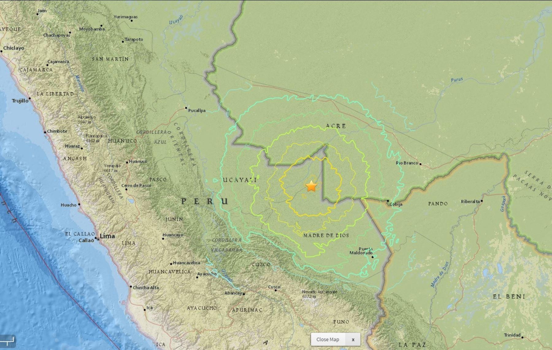 Fuerte sismo se sintió en diversas regiones del país. INTERNET