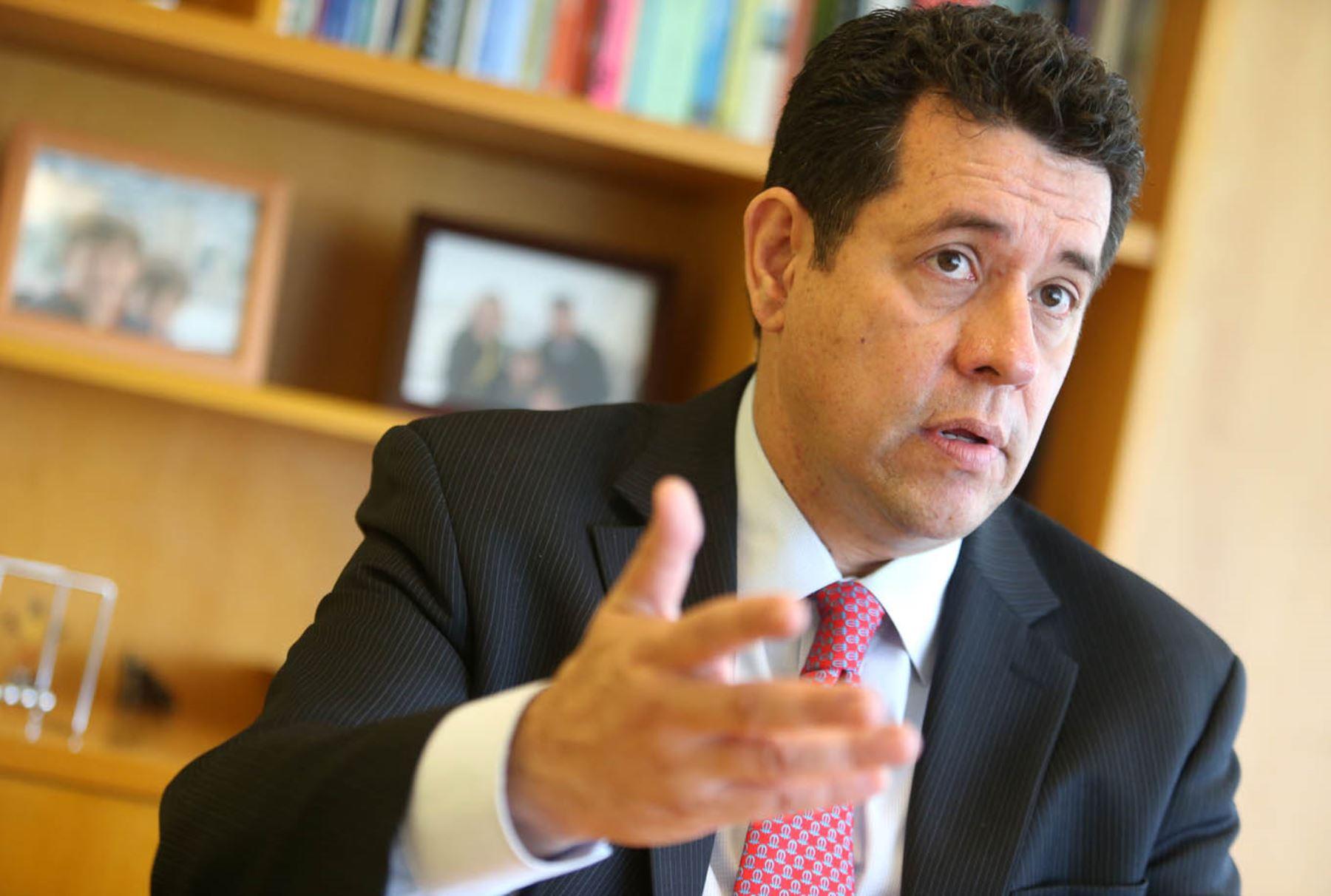 Alberto Rodriguez, Director del Banco Mundial para Bolivia, Chile, Ecuador, Perú y Venezuela, América Latina y el Caribe. Foto: ANDINA/Melina Mejía