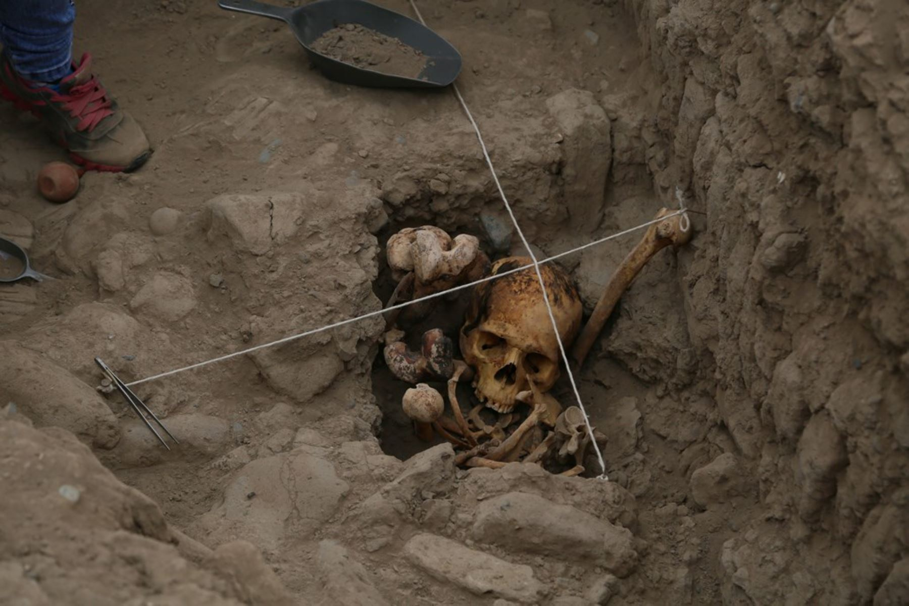 Excavaciones arqueológicas permitieron hallar entierros humanos. Foto: Difusión