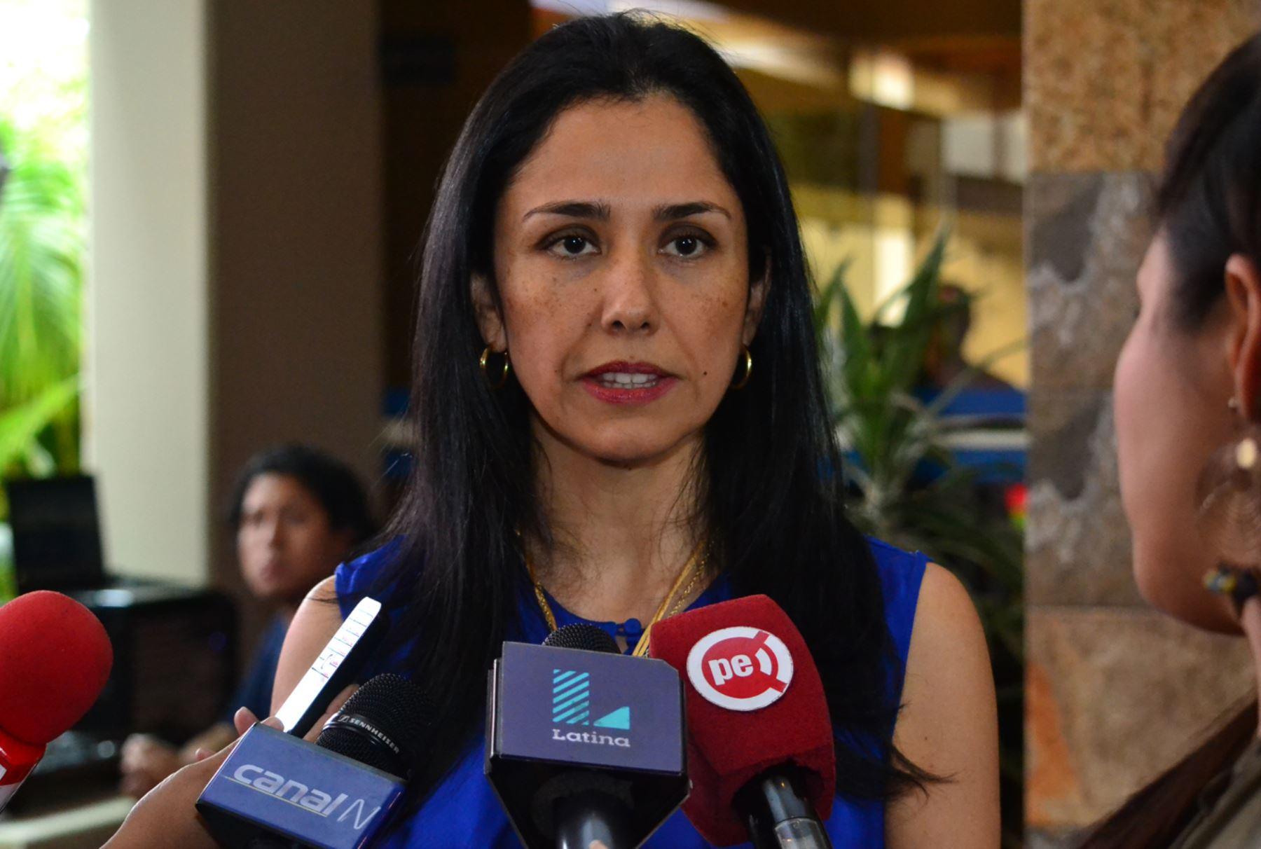 Presidenta del Partido Nacionalista, Nadine Heredia. Foto: ANDINA
