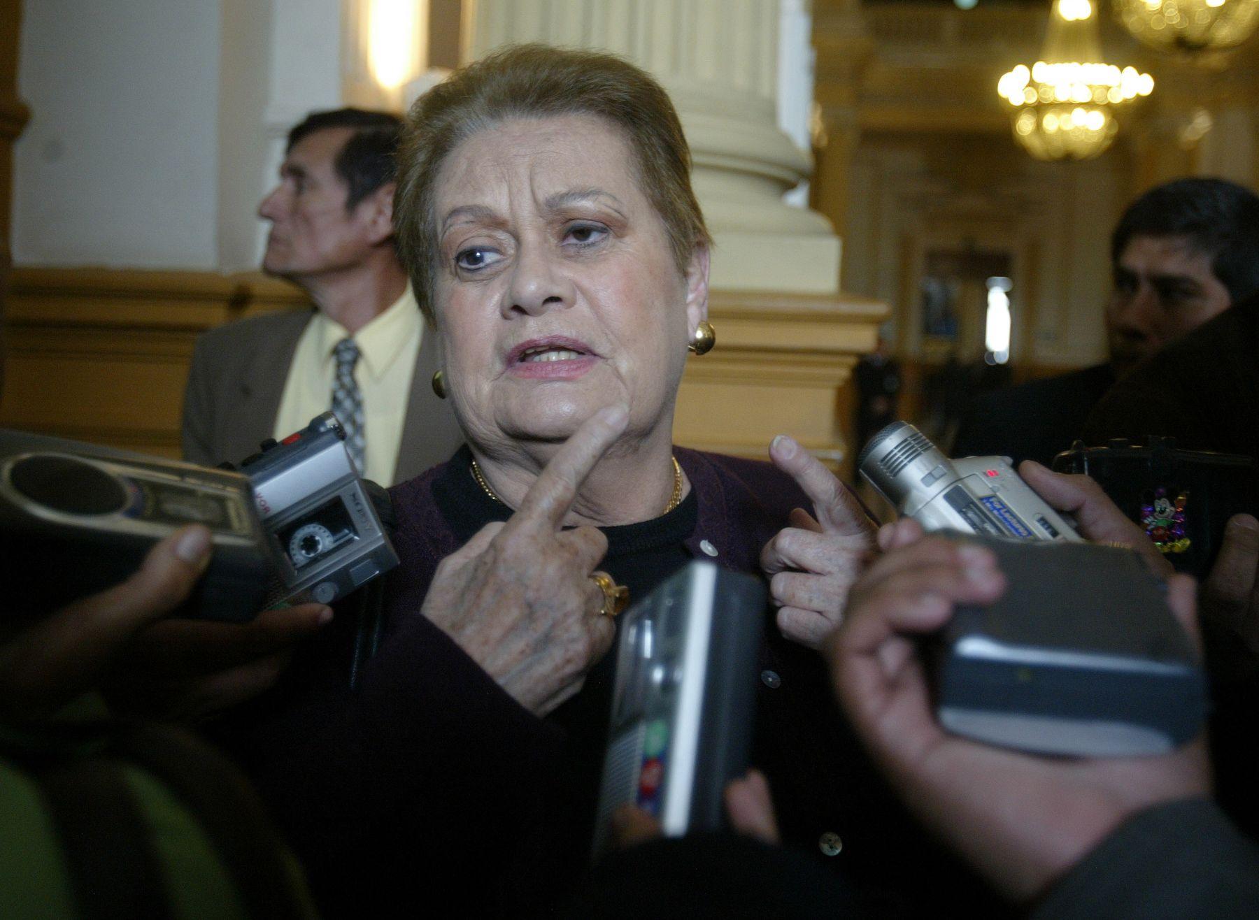 Martha Hildebrandt, congresista de la República. Foto: ANDINA/ Archivo / Juan Carlos Guzmán