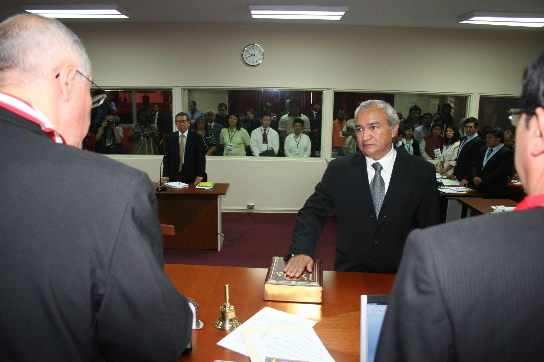 Samuel Dyer rindió manifestación, en juicio de ex presidente Alberto Fujimori. Foto: ANDINA/Pj