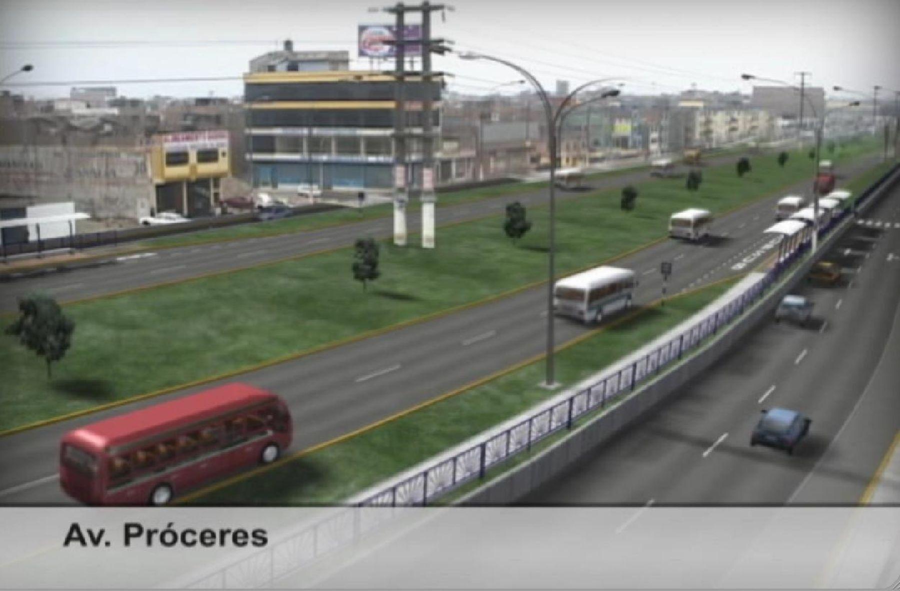 Avenida Próceres en SJL será corredor vial