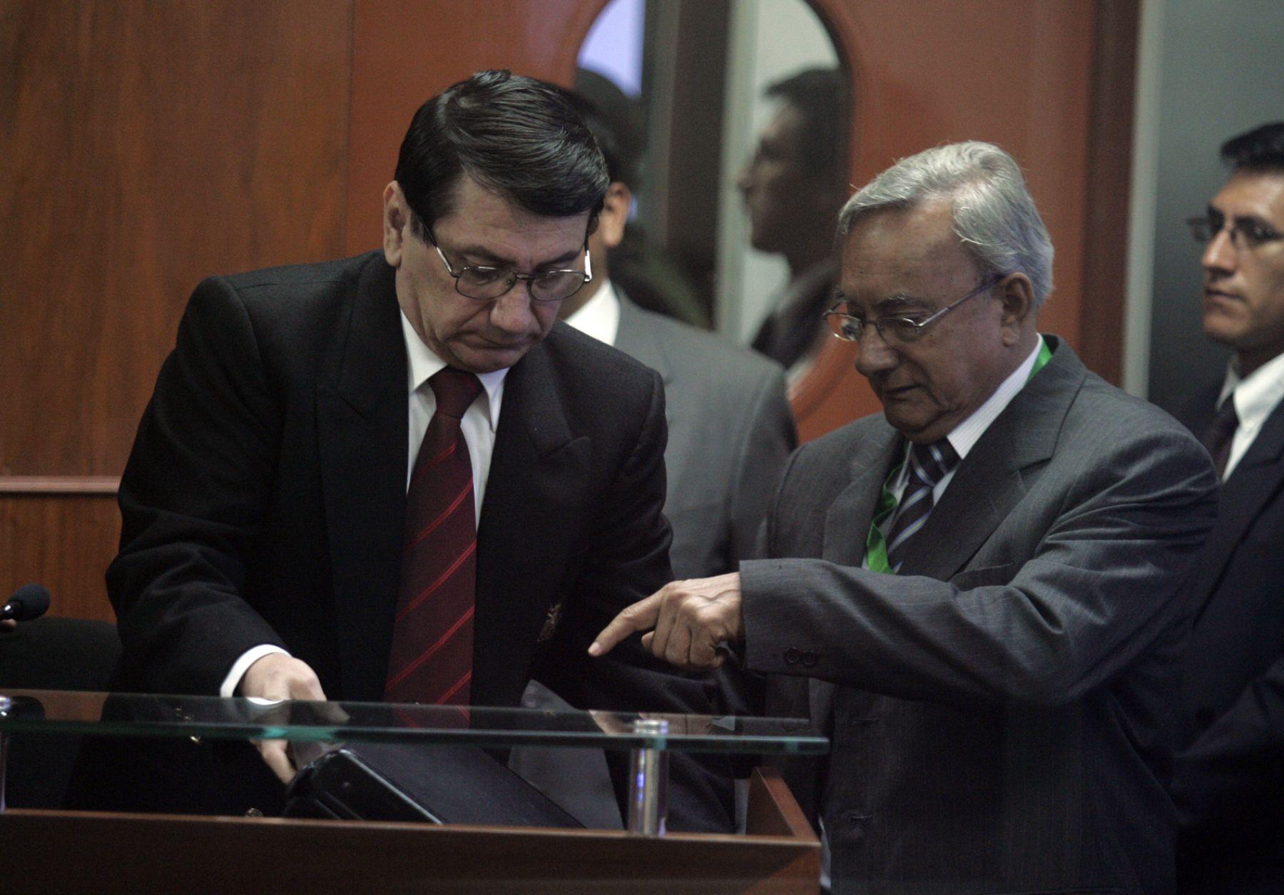 Santiago Martìn Rivas es presentado como testigo en juicio que se le sigue al ex presidente Alberto Fujimori. Foto:ANDINA/Juan Carlos Guzmàn Negrini.
