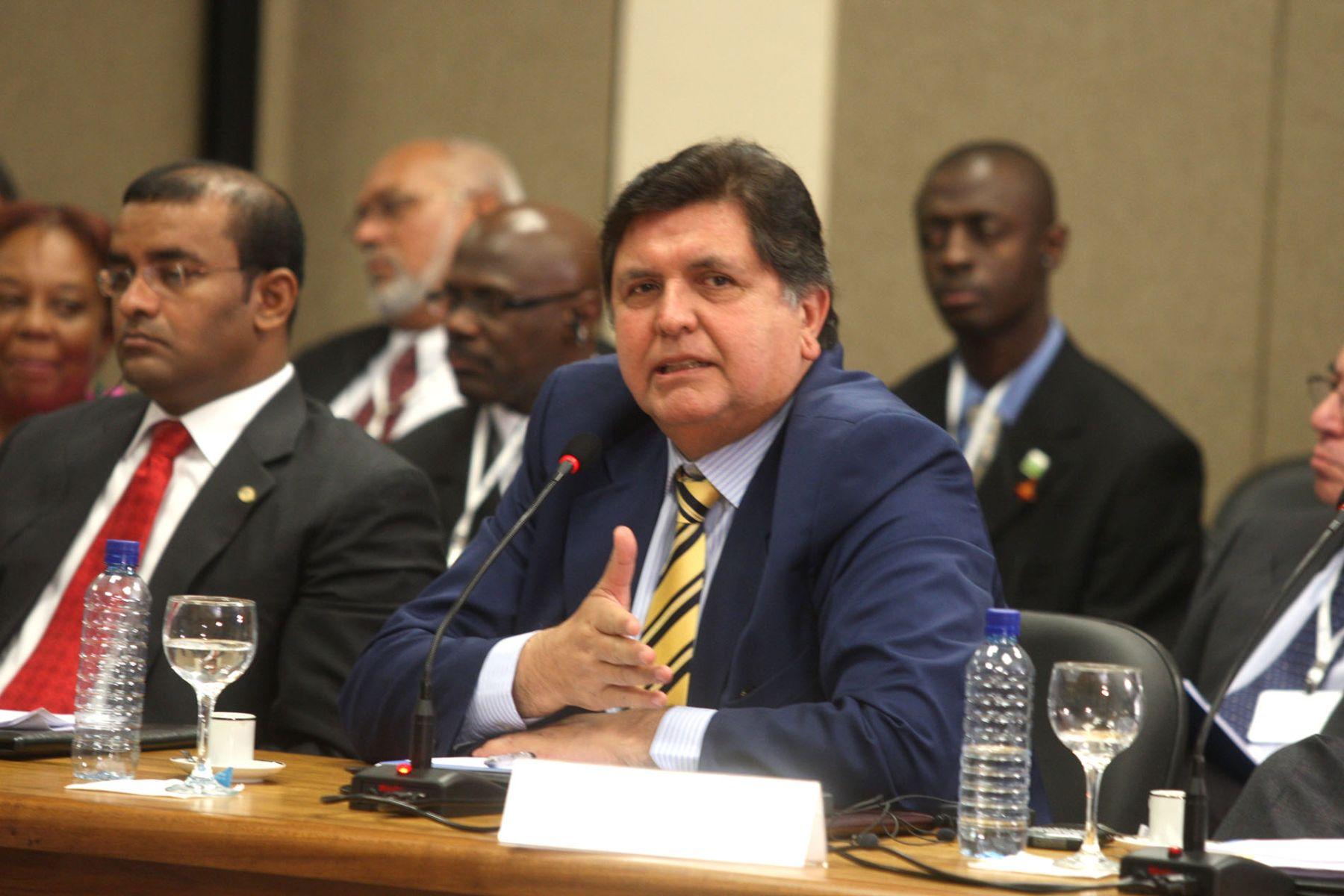 El presidente Alan García interviene en la ceremonia de consttución de Unasur en Brasilia. Foto: ANDINA/Piero Vargas.