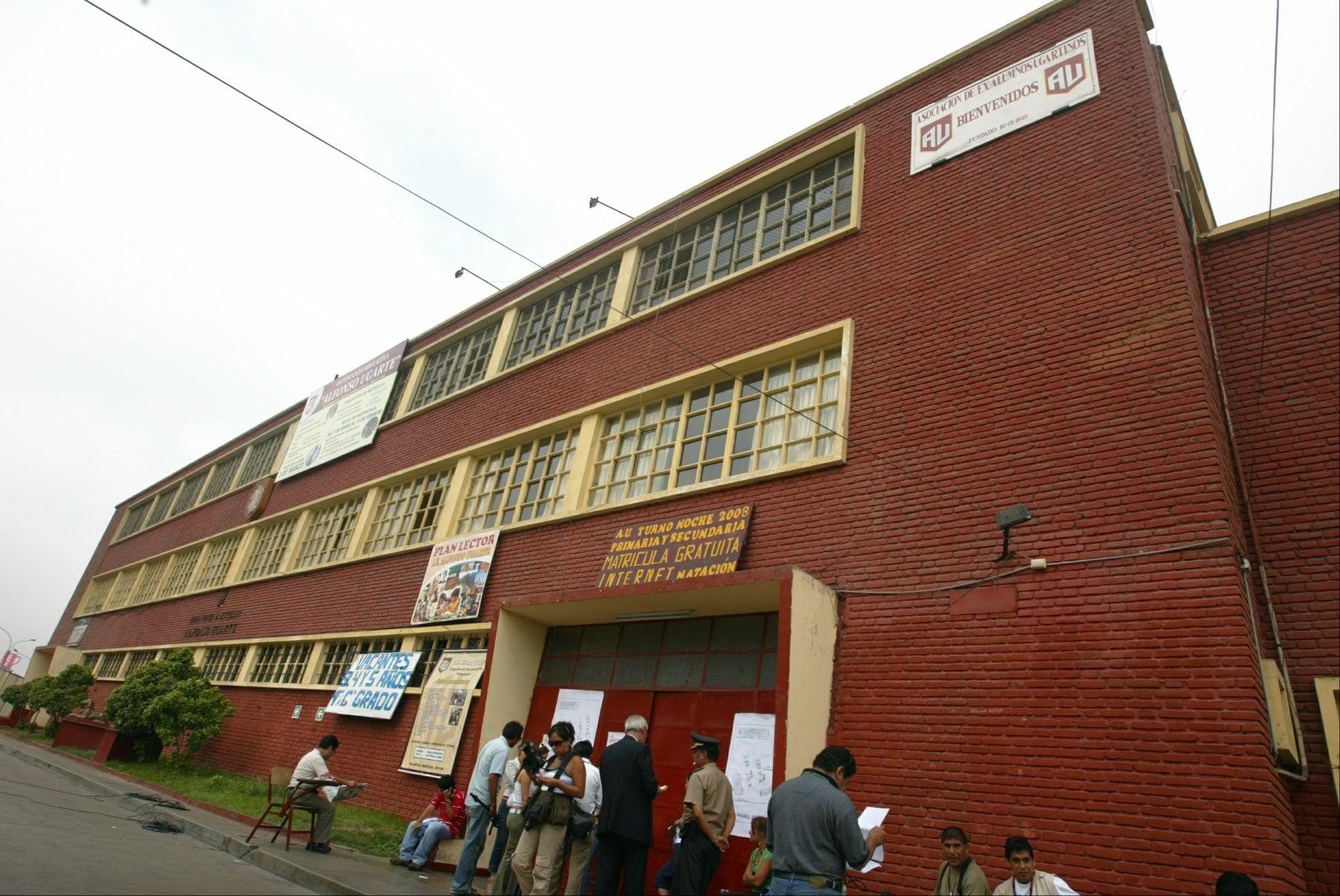 Gran Unidad Escolar Alfonso Ugarte será remodelada como parte de un proyecto del Ministerio de Educación. Foto: Andina/Locales