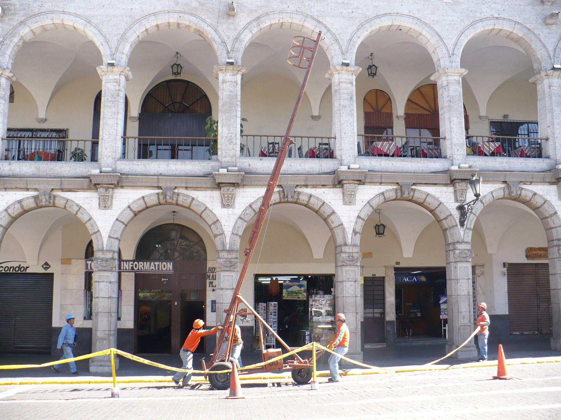 Plaza de Armas de Arequipa. Foto:ANDINA/Archivo.