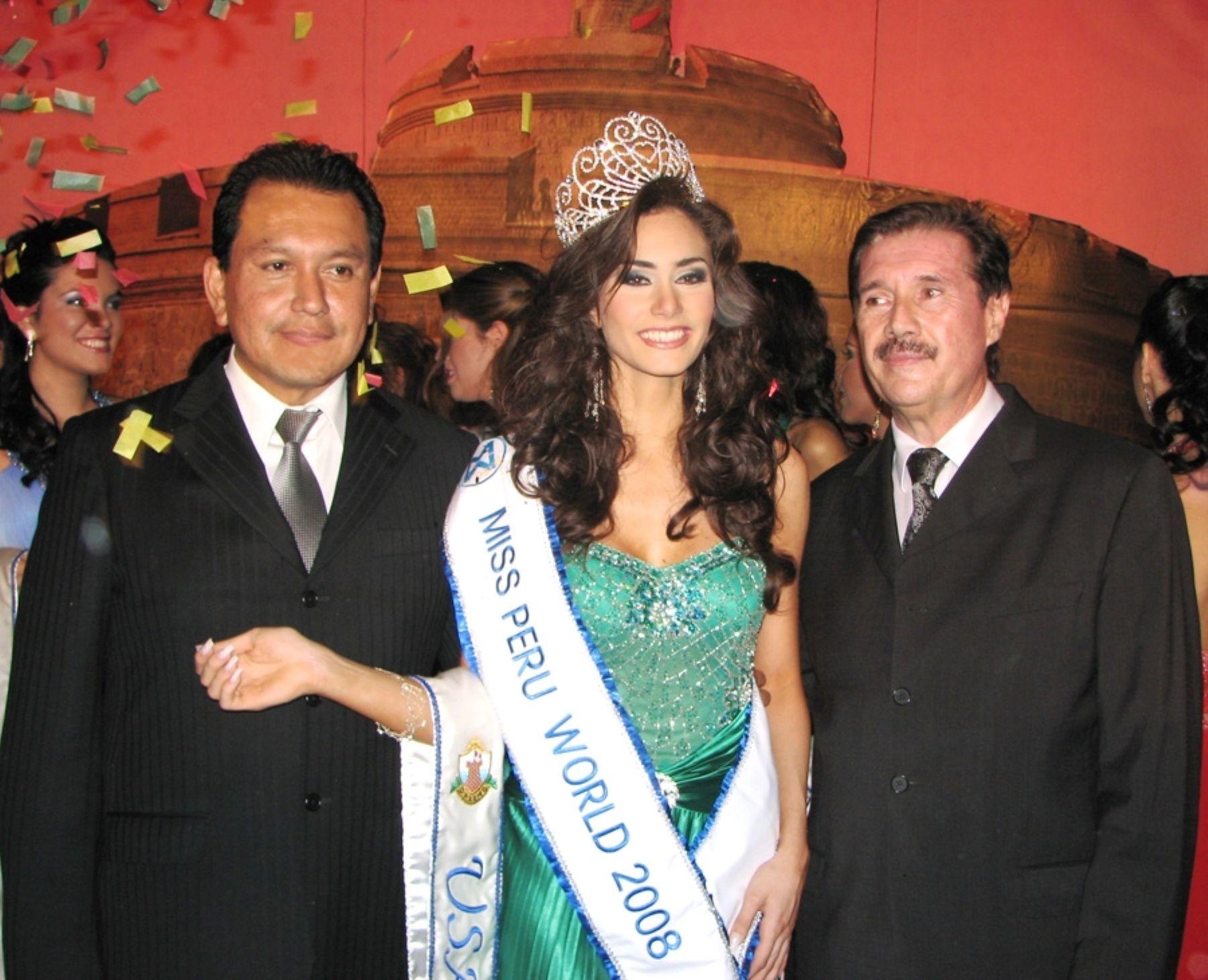 Annmarie Dehainaut Annmarie Dehainaut wins Miss Peru World 2008. Photo/Andina/Archive
