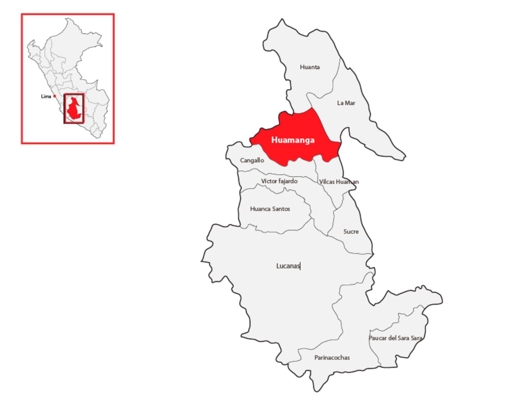 Localizador: Huamanga   Ayacucho
