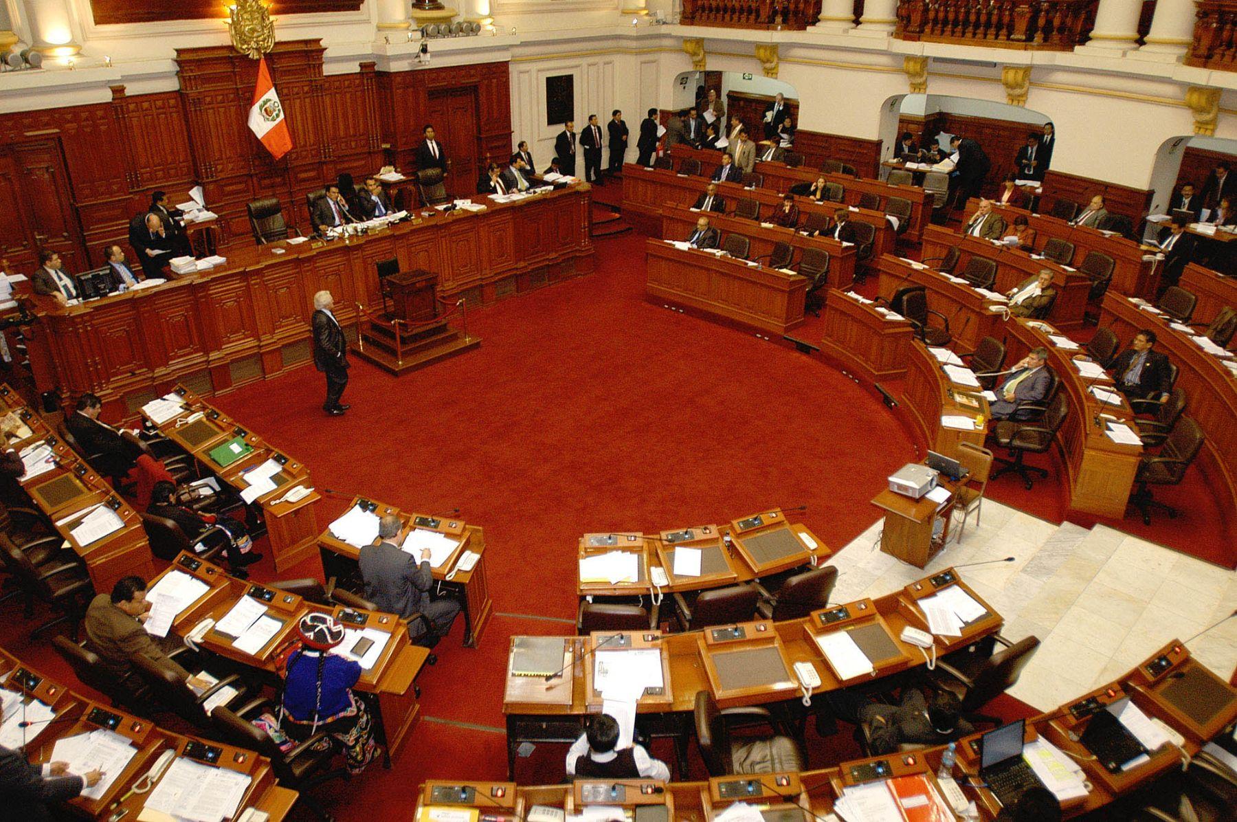 Sesión vespertina del Pleno del Congreso realizada esta tarde.  Foto: ANDINA/Difusión.
