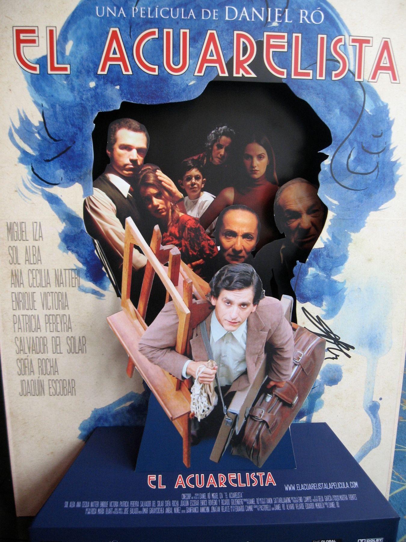 """Afiche de la película """"El Acuarelista"""", de Daniel Ró."""