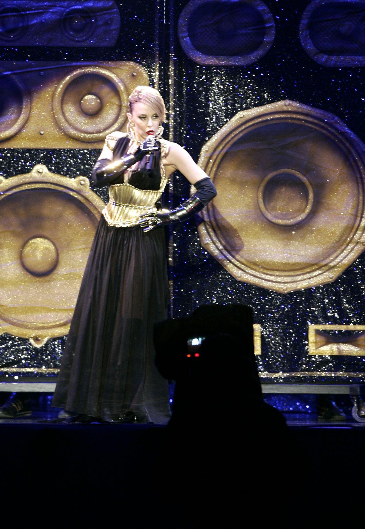 Kylie Minogue en concierto. Foto: ANDINA / Rafael Cornejo
